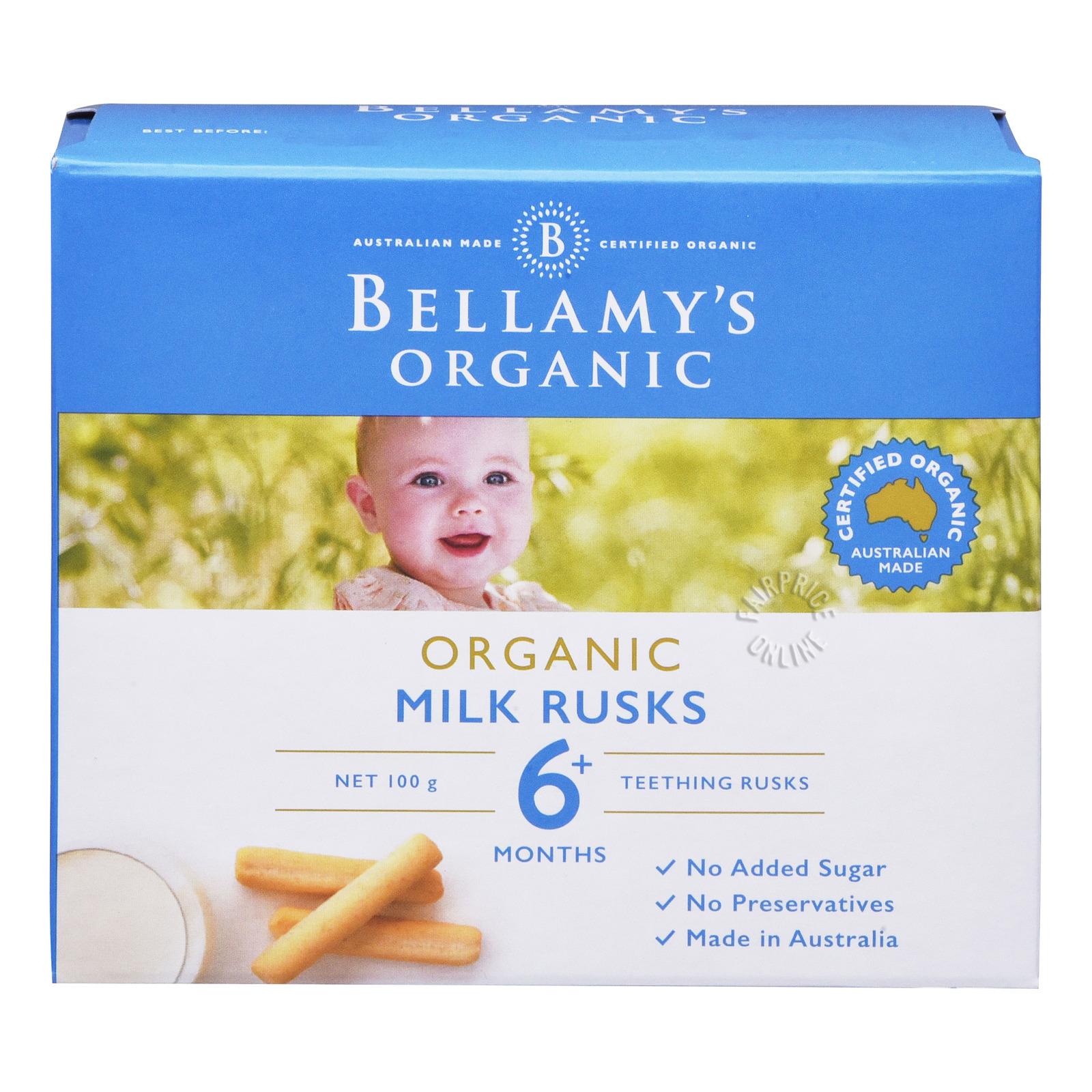 BELLAMY'S Organic Toothiepegs Teething Rusks 100g