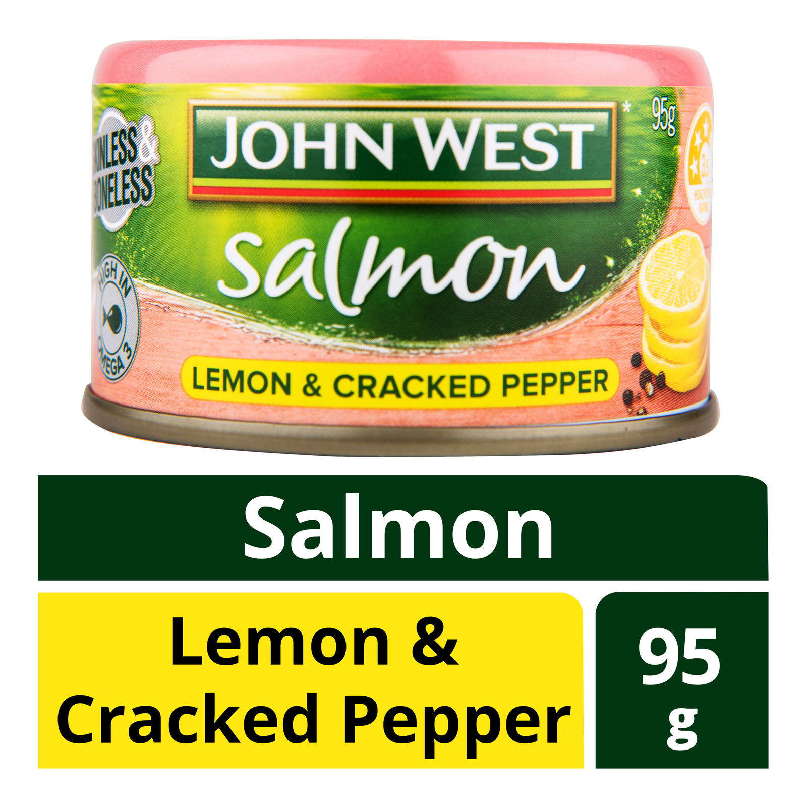 John West Salmon - Lemon & Cracked Pepper