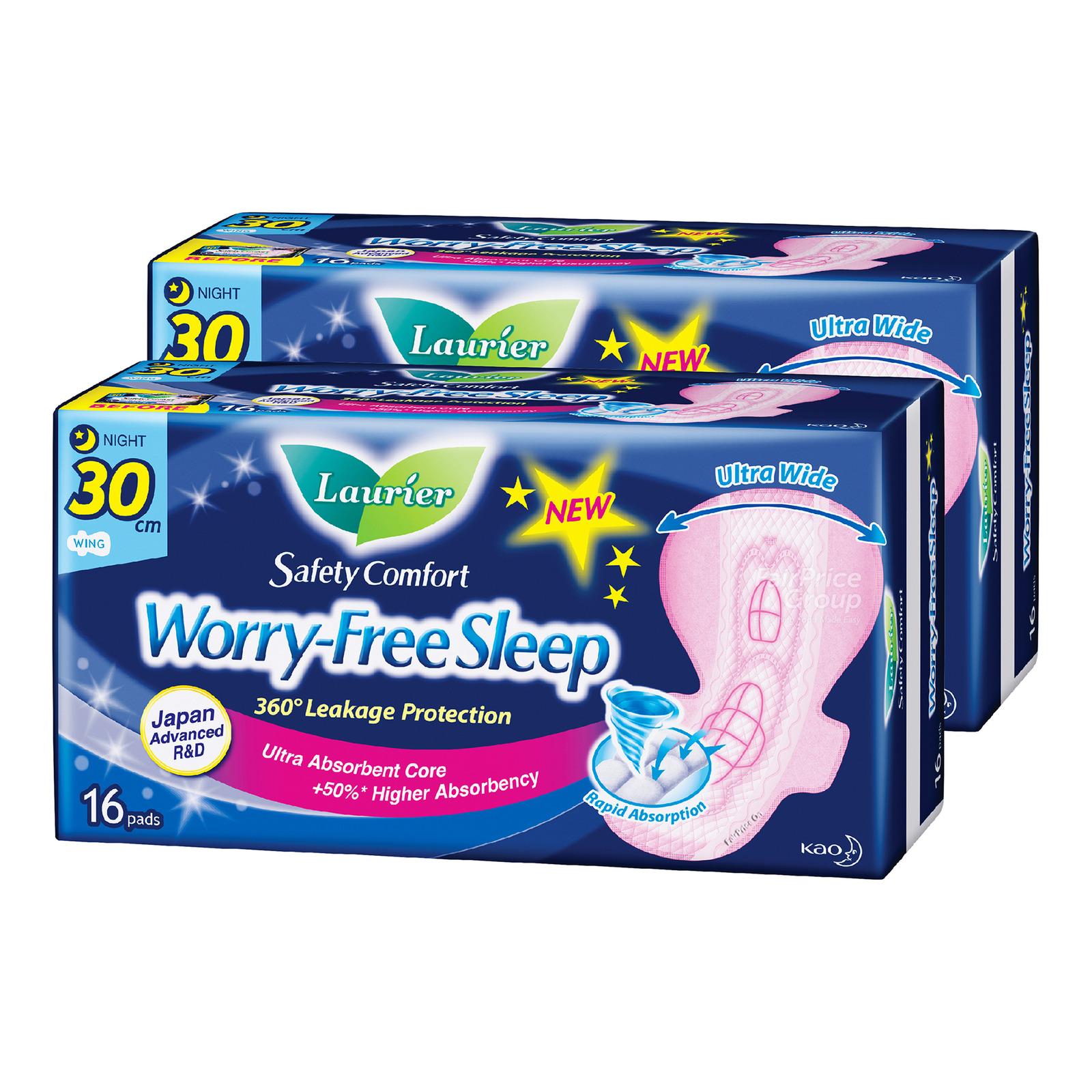 Laurier Worry-Free Sleep Night Pads - 30cm