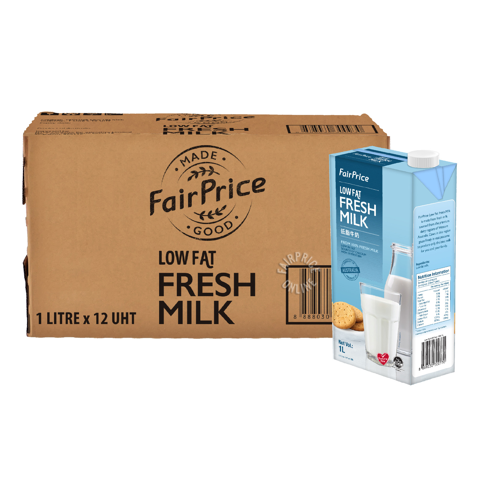 FairPrice UHT Milk - Low Fat