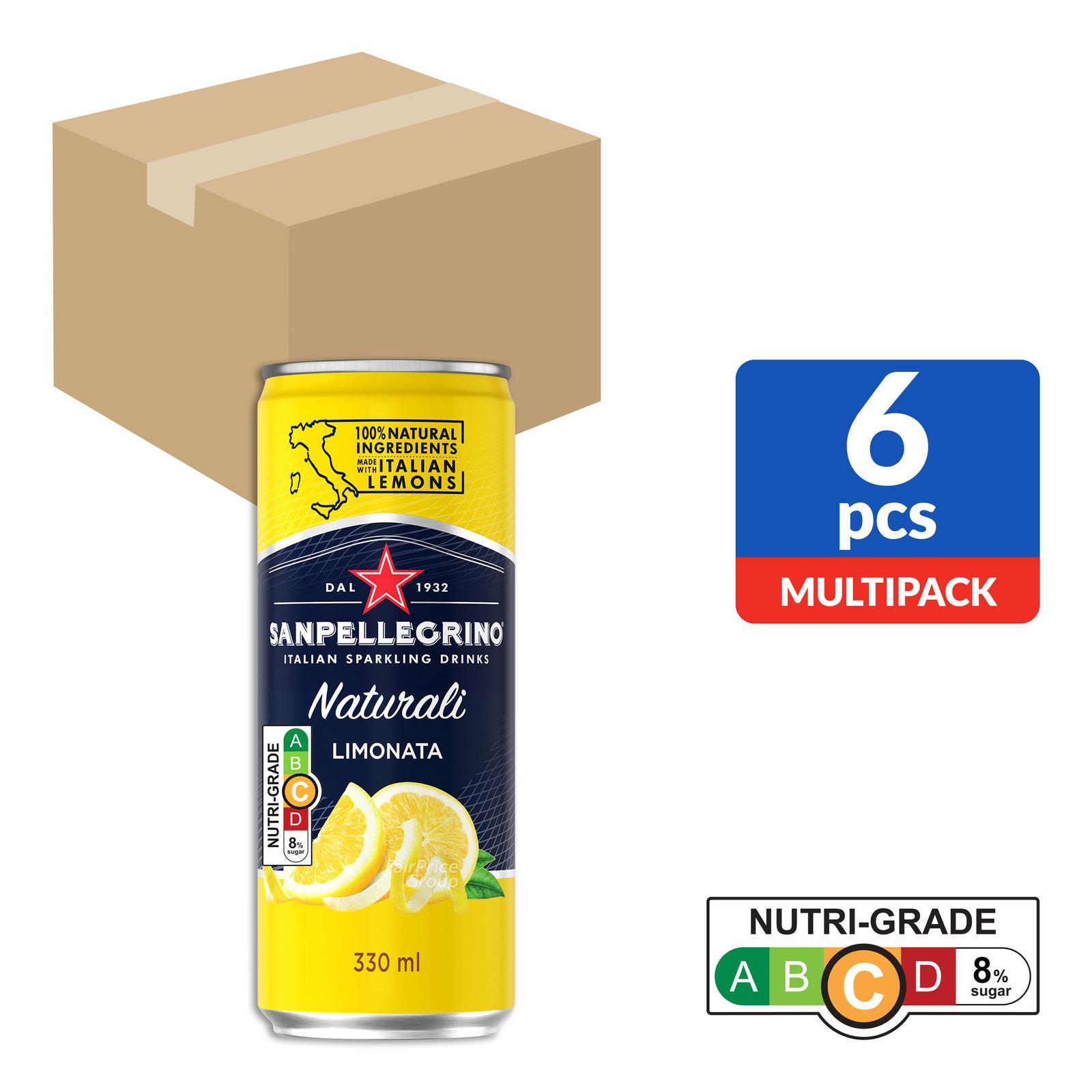 San Pellegrino Sparkling Can Drink - Limonata