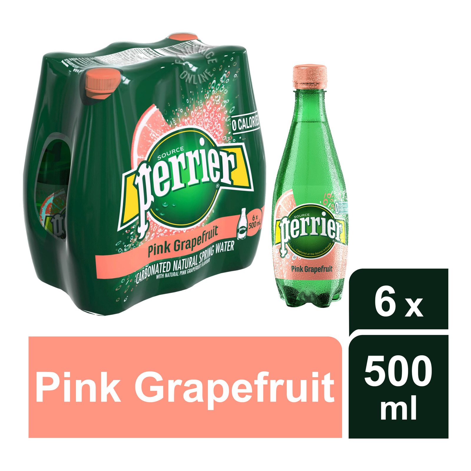 Perrier Sparkling Mineral Bottle Water-PinkGrapefruit