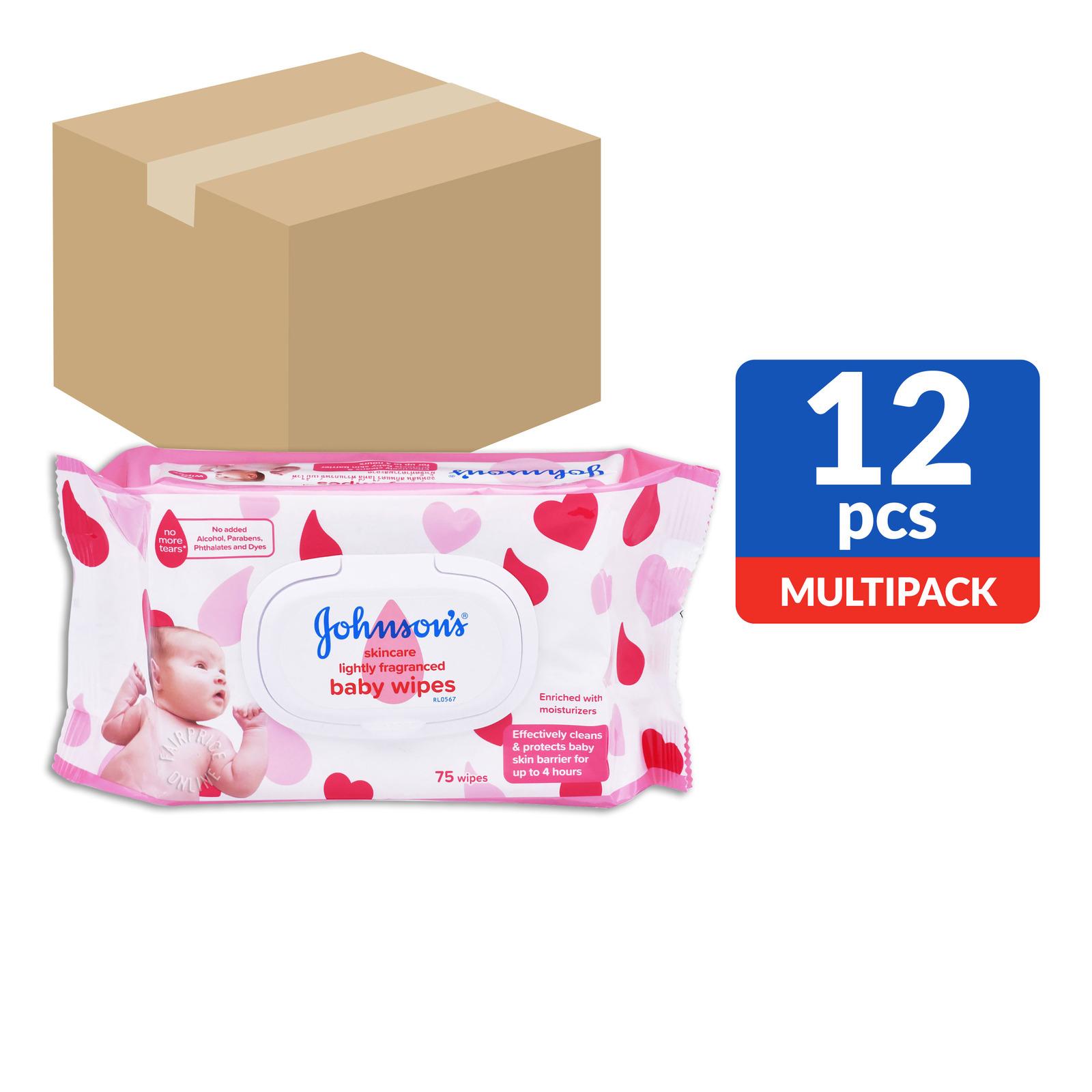 Johnson's Baby Wipes - Lightly Fragranced