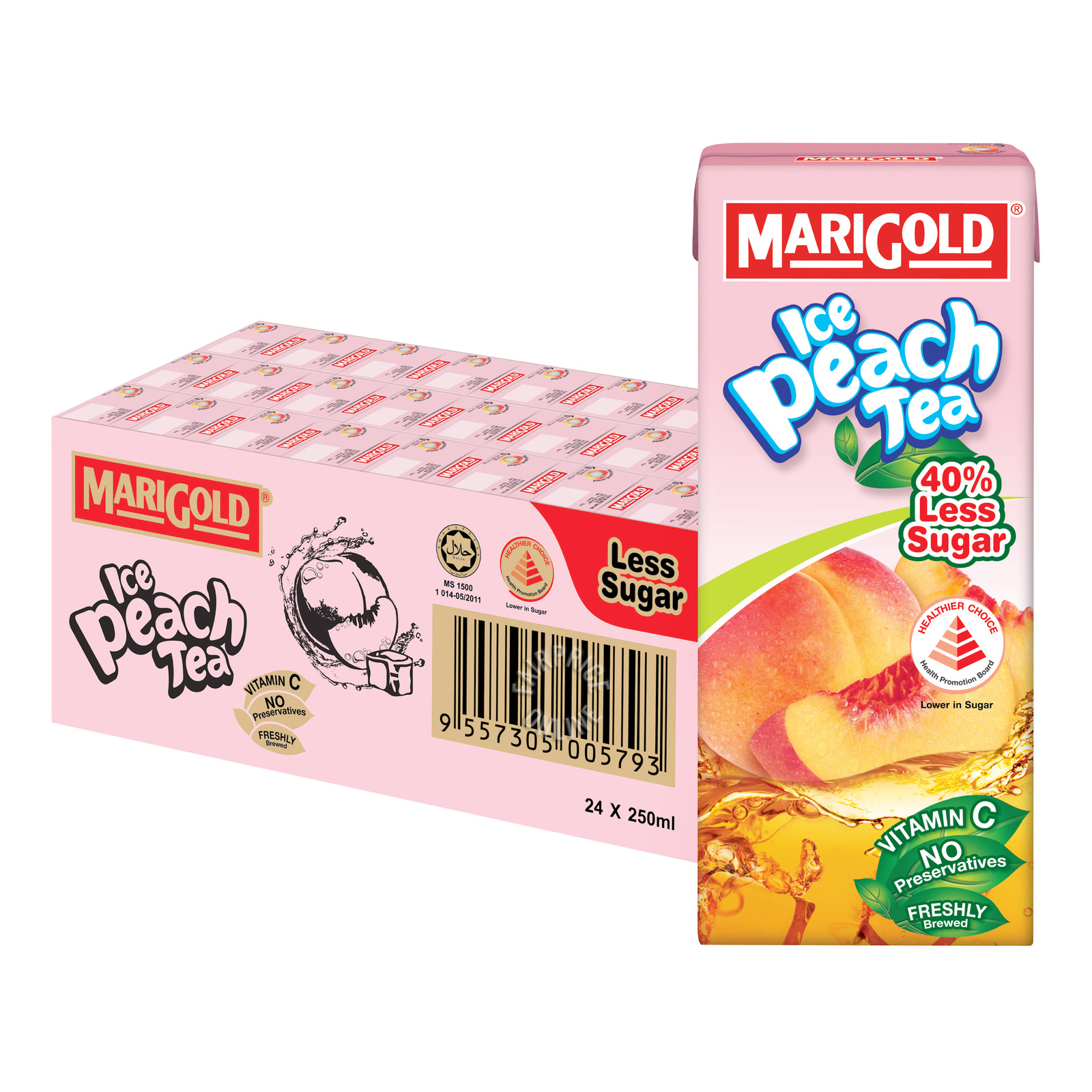Marigold Packet Drink - Ice Peach Tea (Less Sweet)