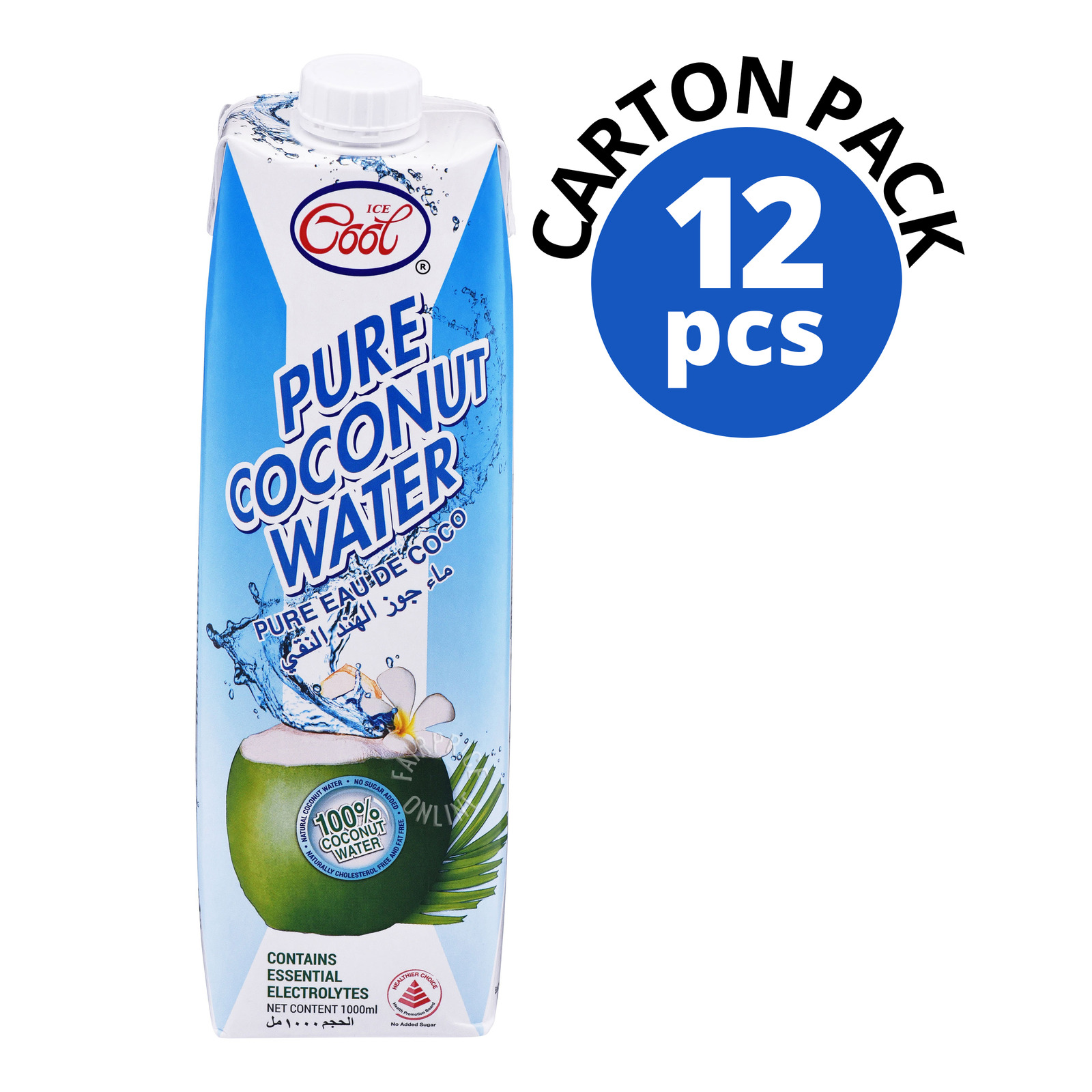 Ice Cool 100% Pure Coconut Water - Tetra Case