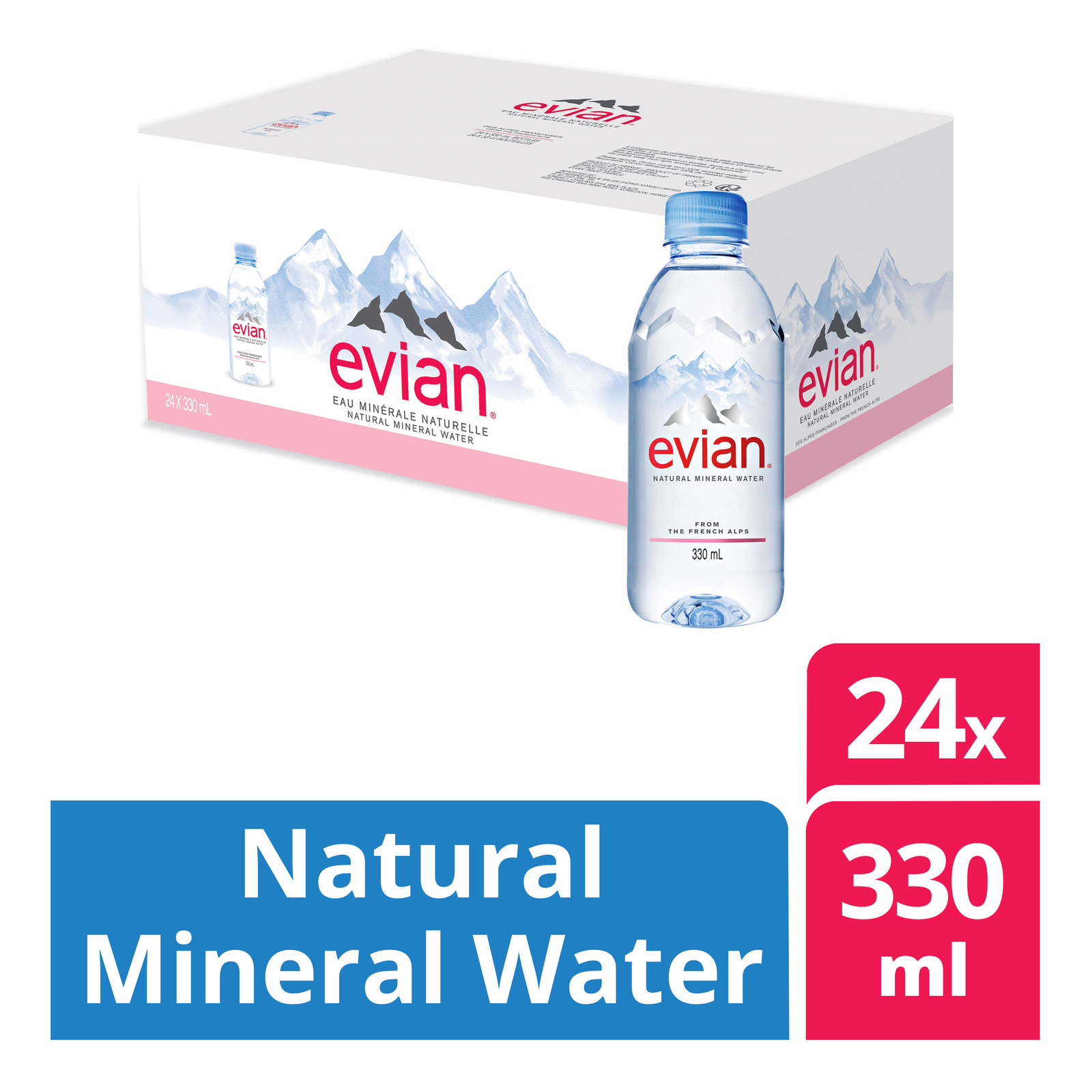 Evian Natural Mineral Water (12 x 1.25L) - Case