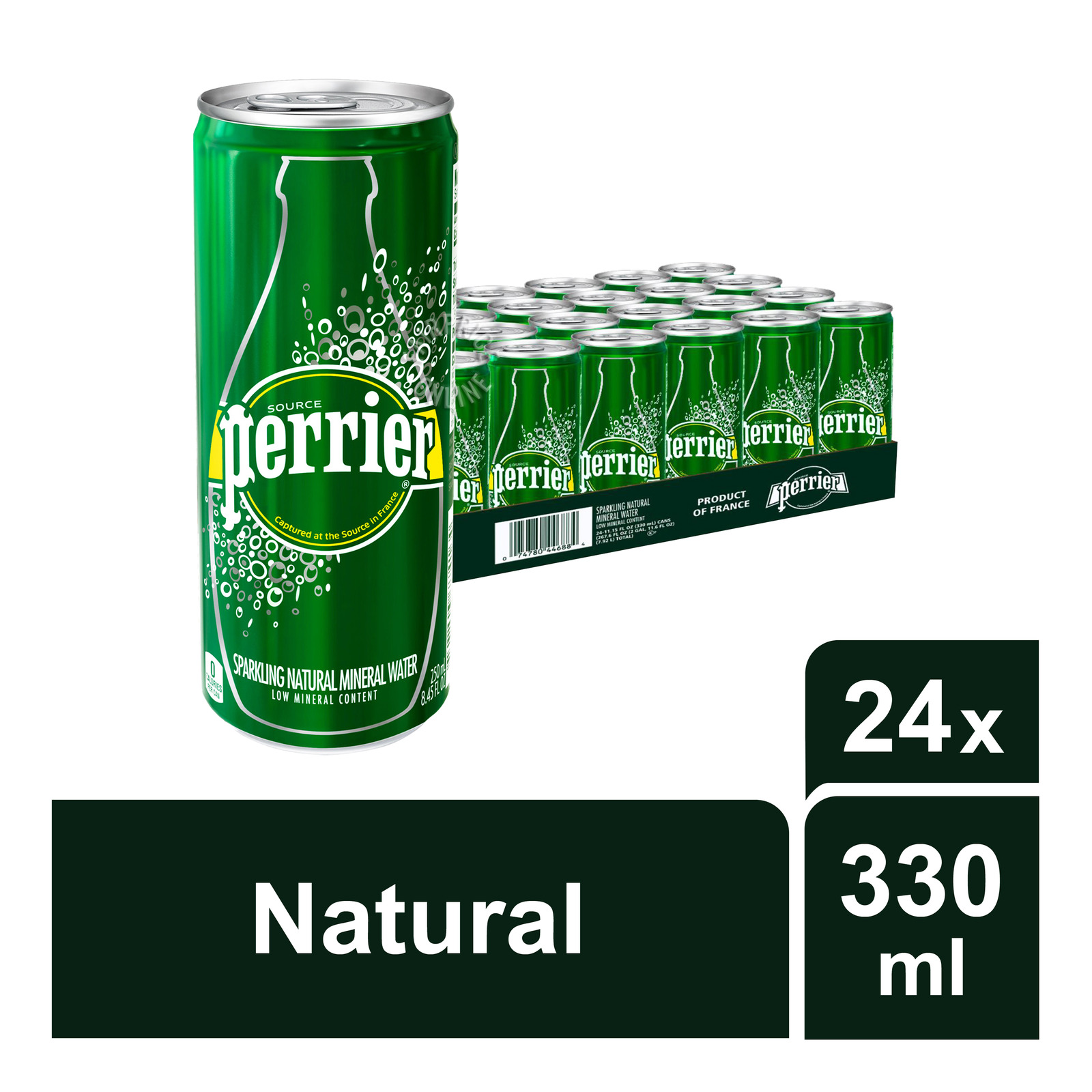 Perrier Sparkling Natural Mineral Can Water -Original
