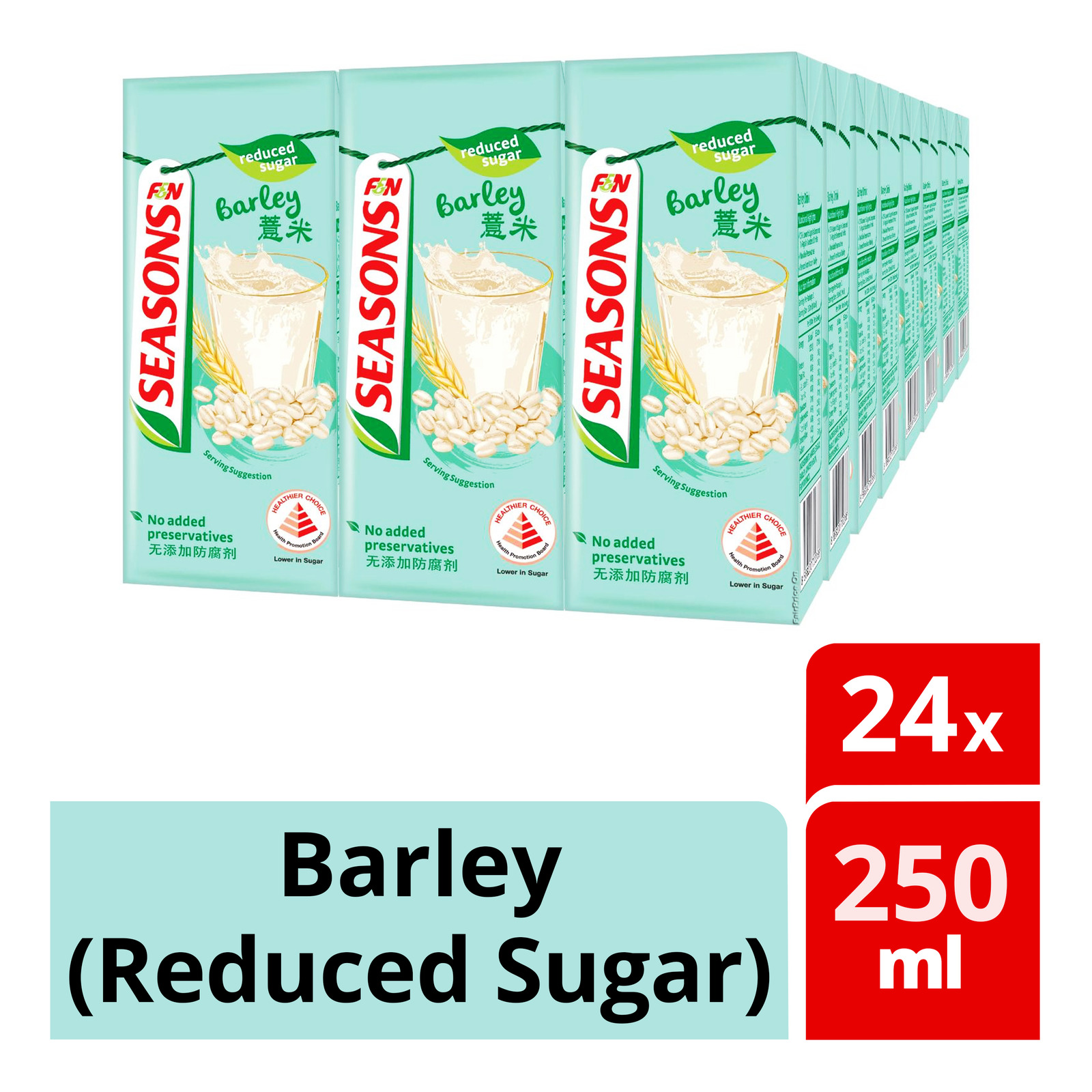 F&N Seasons Packet Drink - Barley (Reduced Sugar)