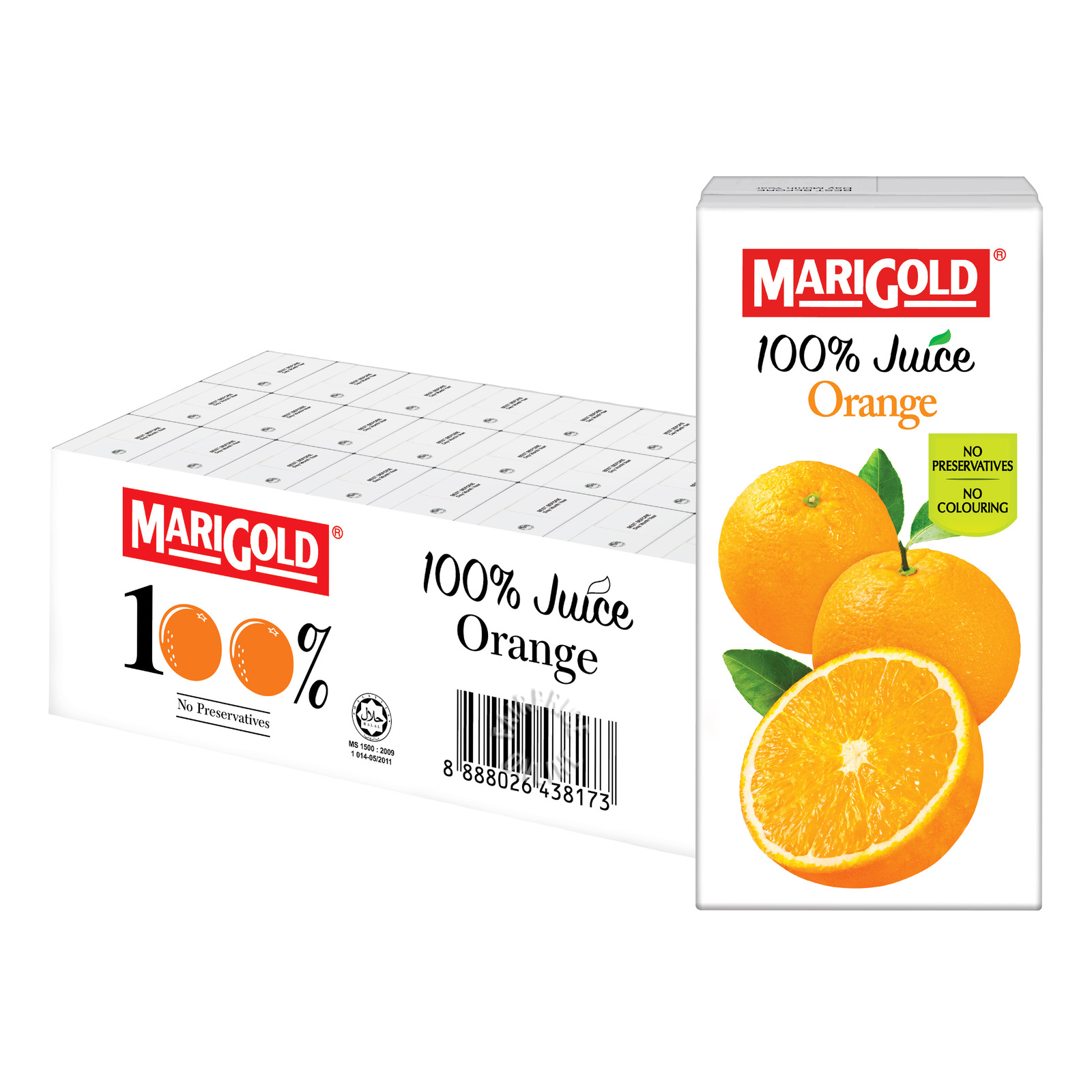 Marigold 100% Packet Juice - Orange