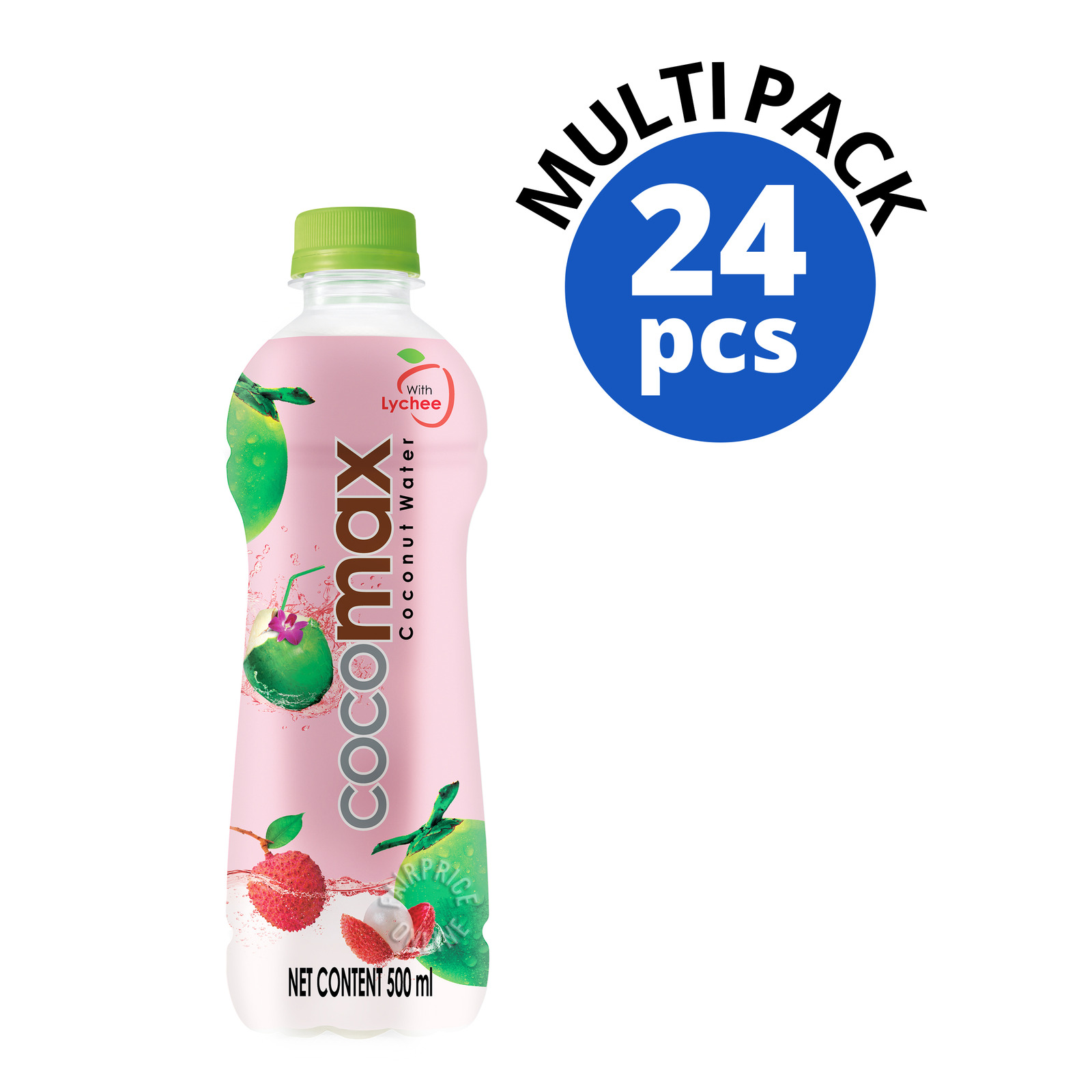 Cocomax 100% Coconut Bottle Water with Lychee