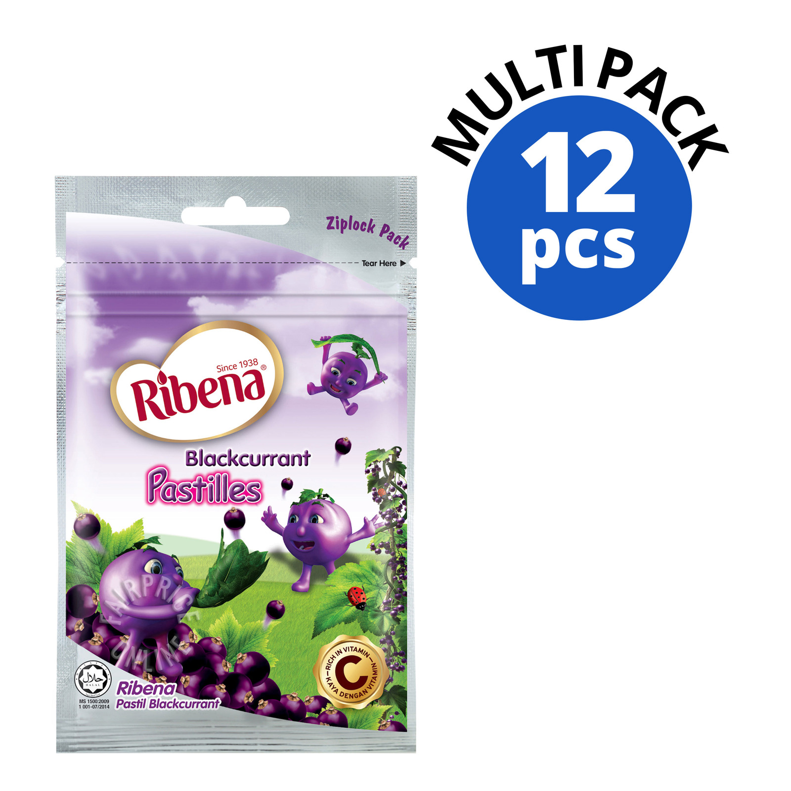 Ribena Blackcurrant Pastilles (Zipper Pack)