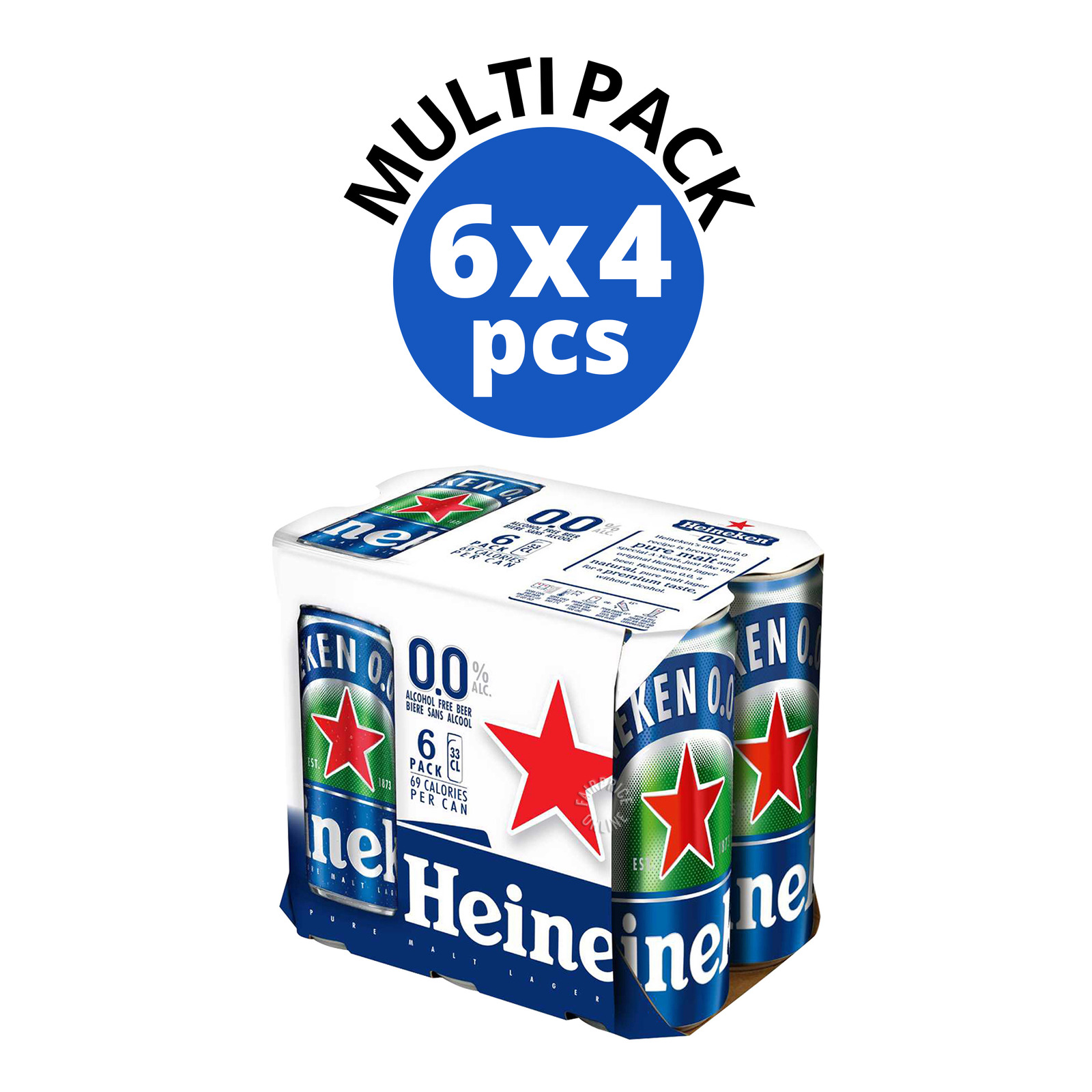 Heineken 0.0% Alcohol Free Can Beer
