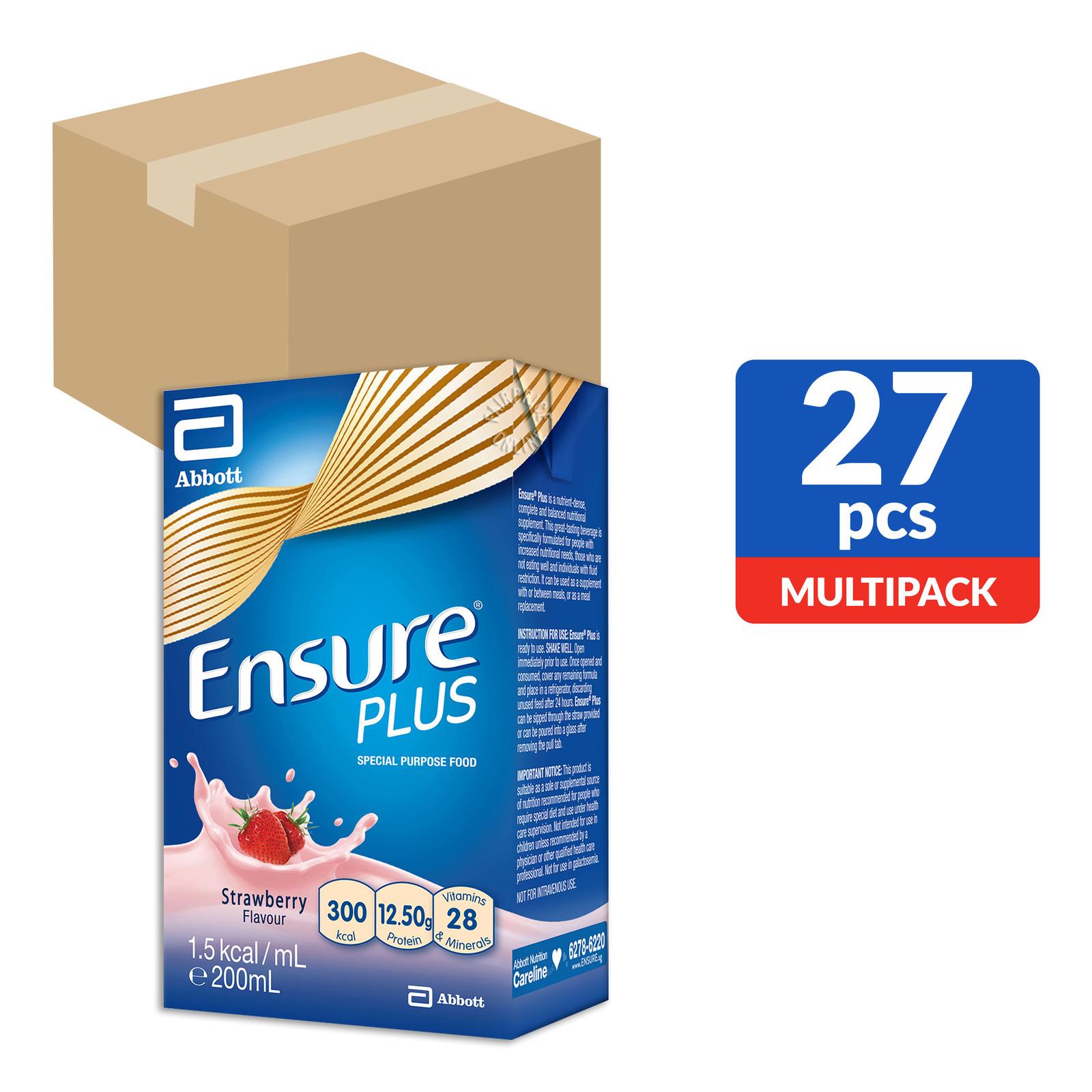 Abbott Ensure Plus Packet Milk - Strawberry