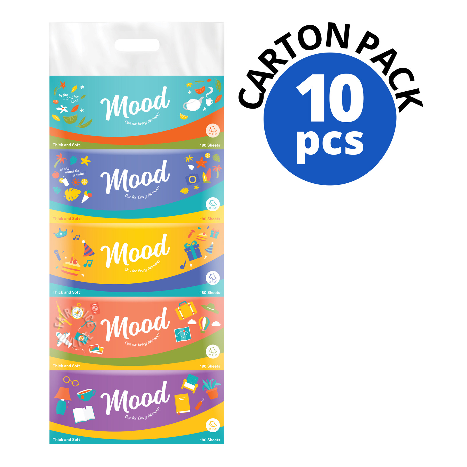 Mood Facial Tissue Boxes