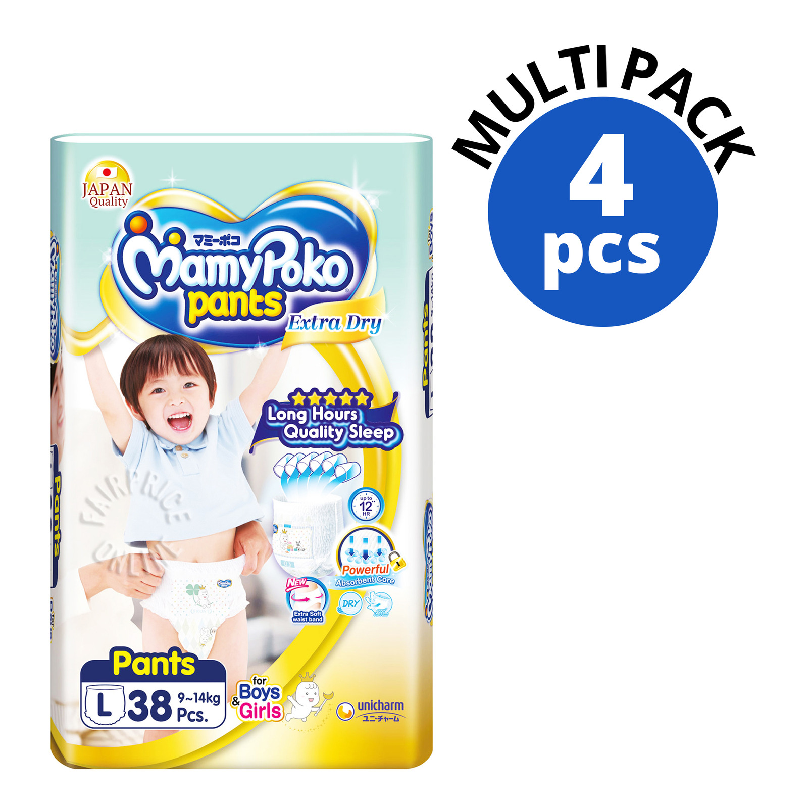 Pampers Baby Dry Pants - L (9-14kg) - Carton