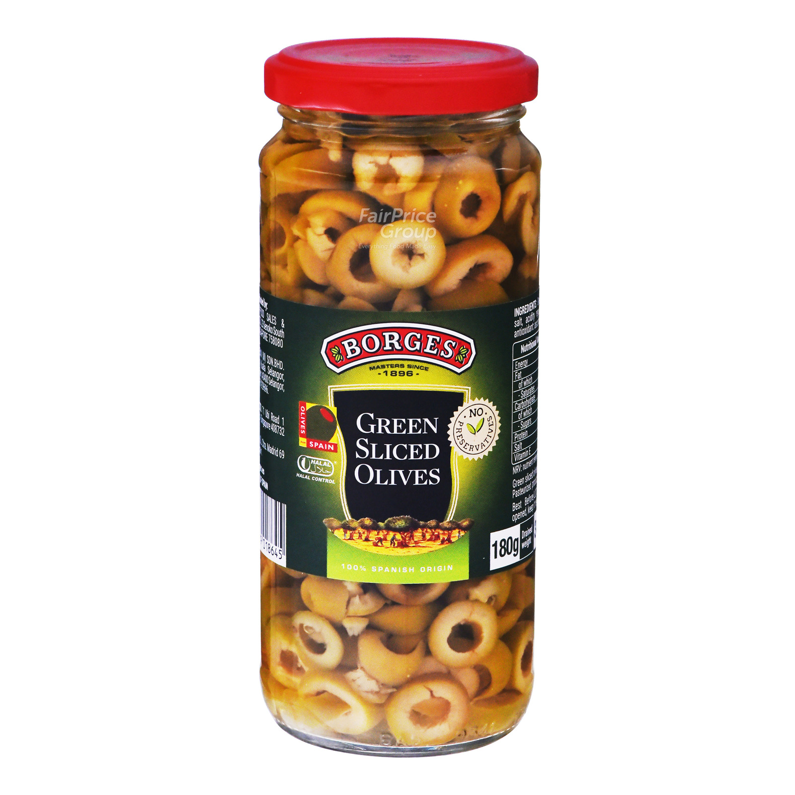 Borges Green Olives - Sliced