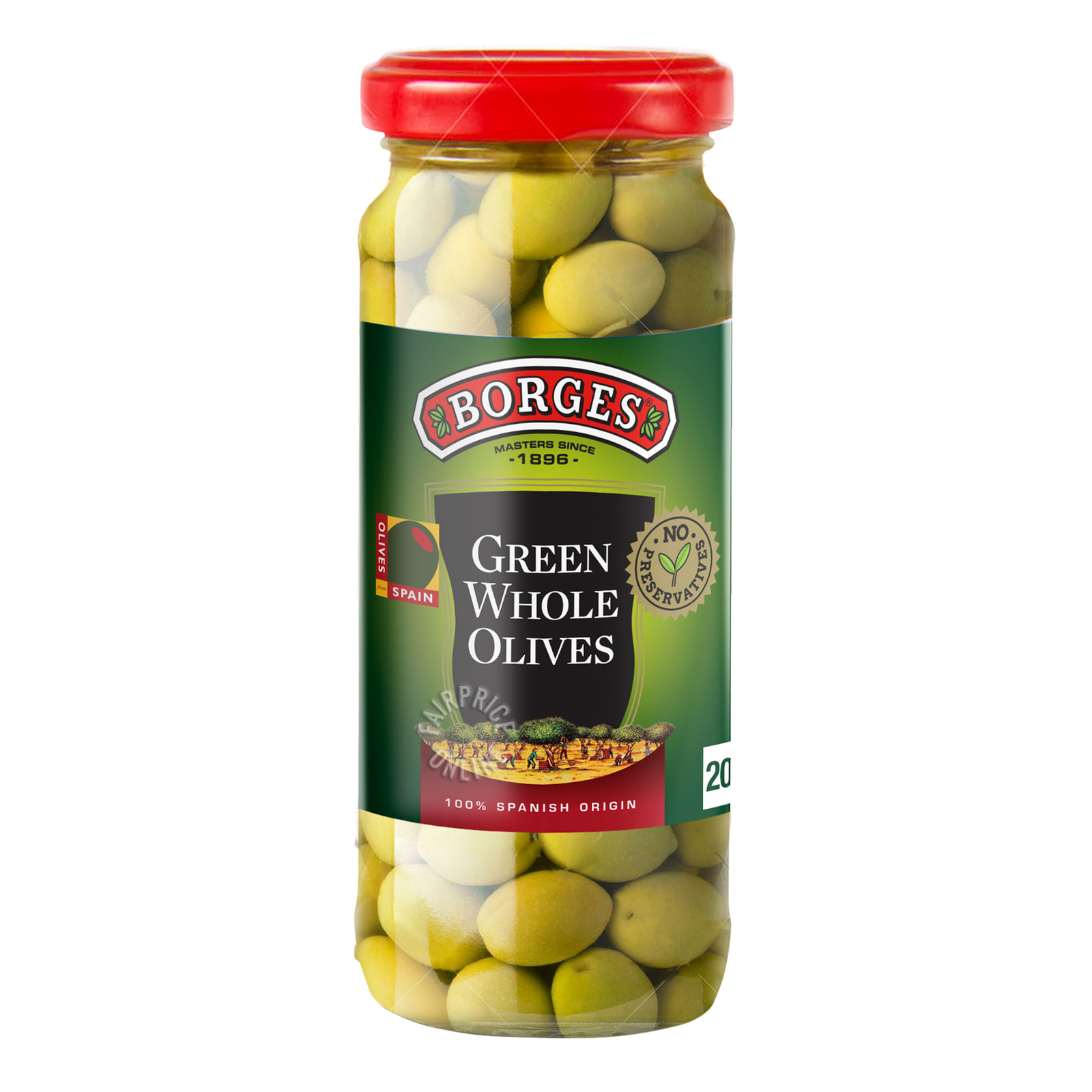 Borges Green Olives - Whole