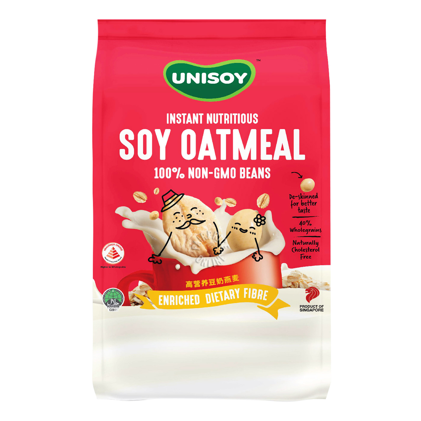 UNISOY Instant Nutritious Soya Oatmeal 12sX40g