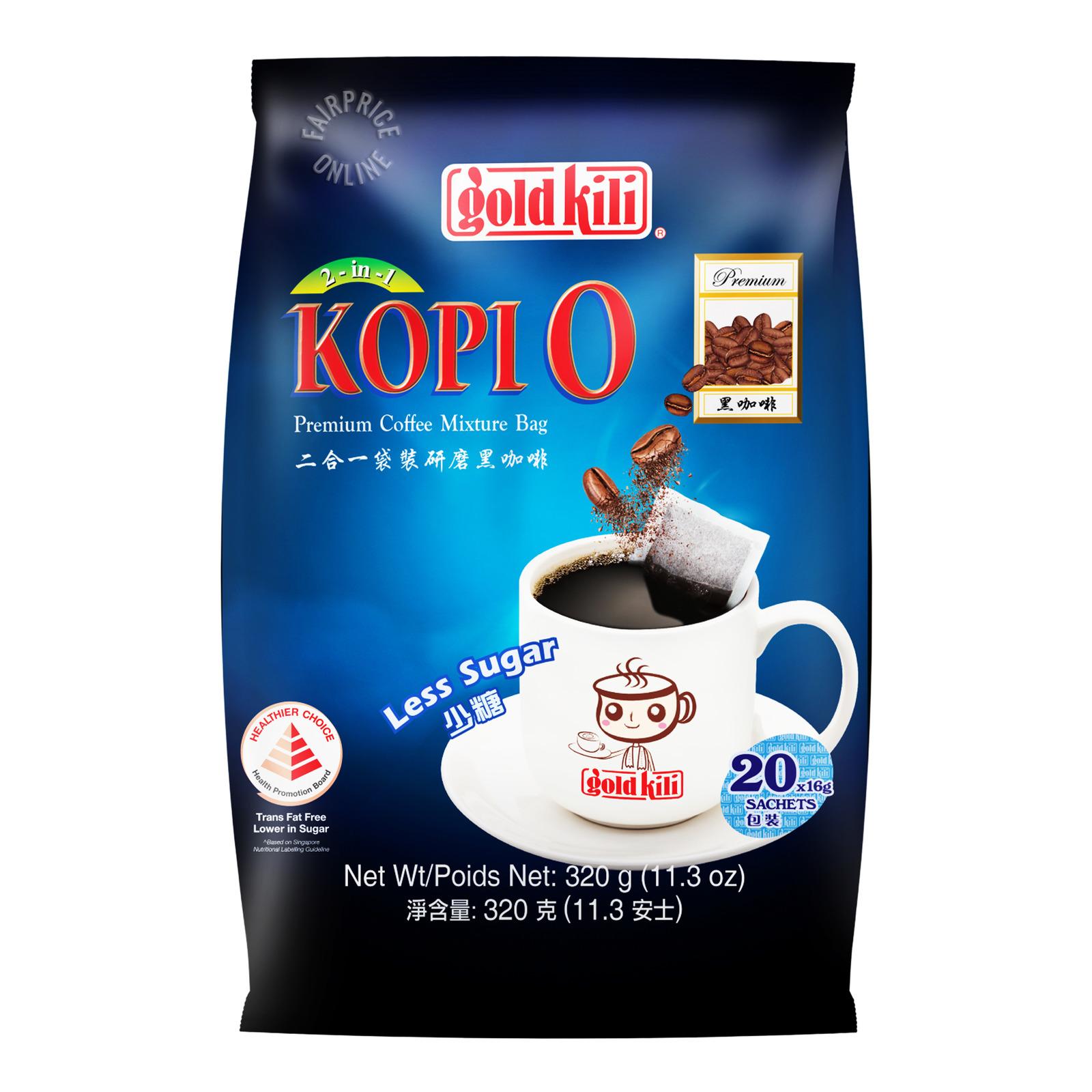 Gold Kili 2 in 1 Instant Premium Kopi O - Less Sugar