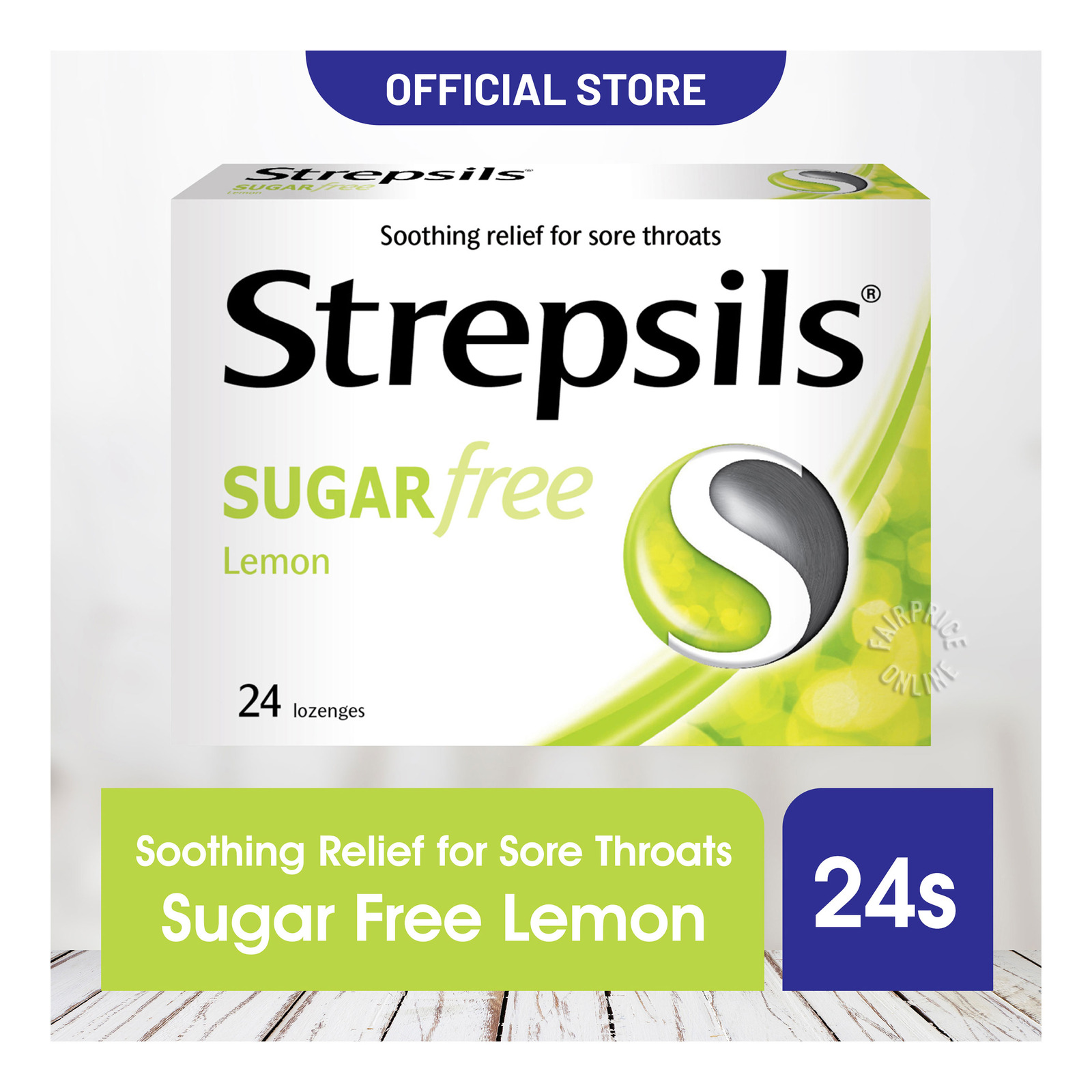 Strepsils Lozenges Box - Sugar Free (Lemon)