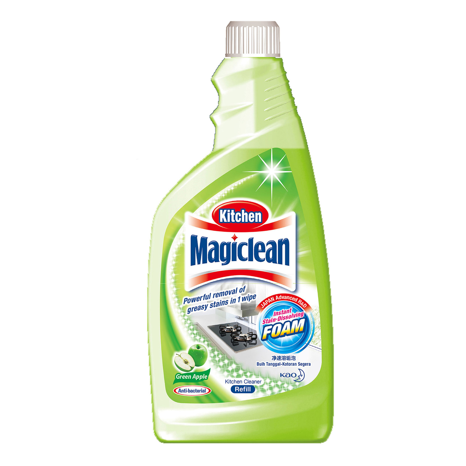 Magiclean Green Apple Scent Kitchen Cleaner Refill Pack
