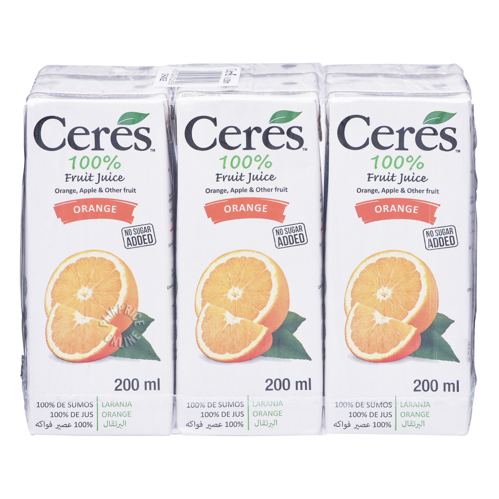 Ceres 100% Juice Packet Drink - Orange