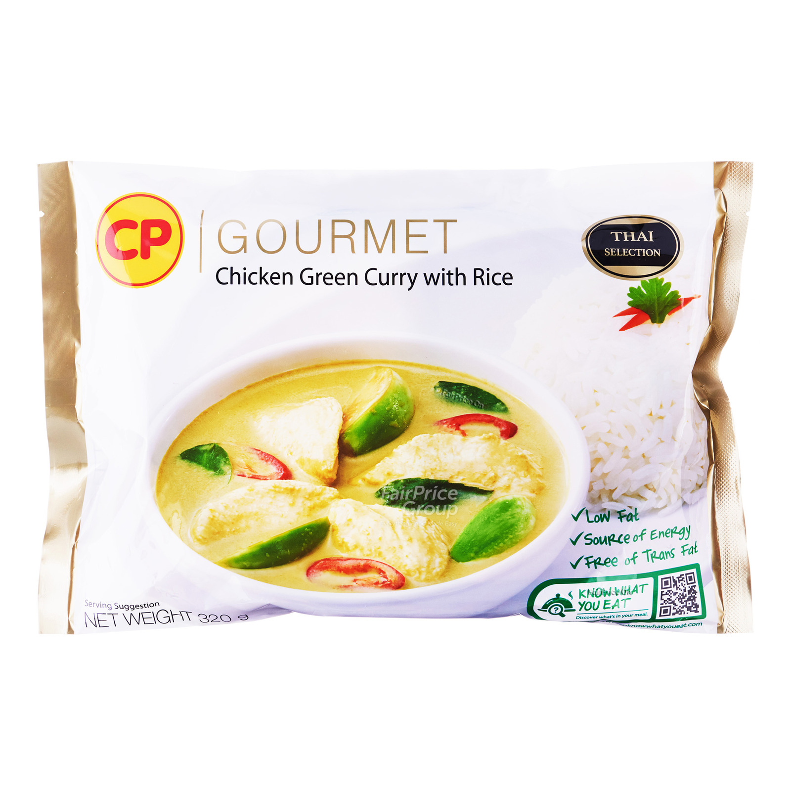 CP Gourmet Ready Meal - Chicken Green Curry with Rice