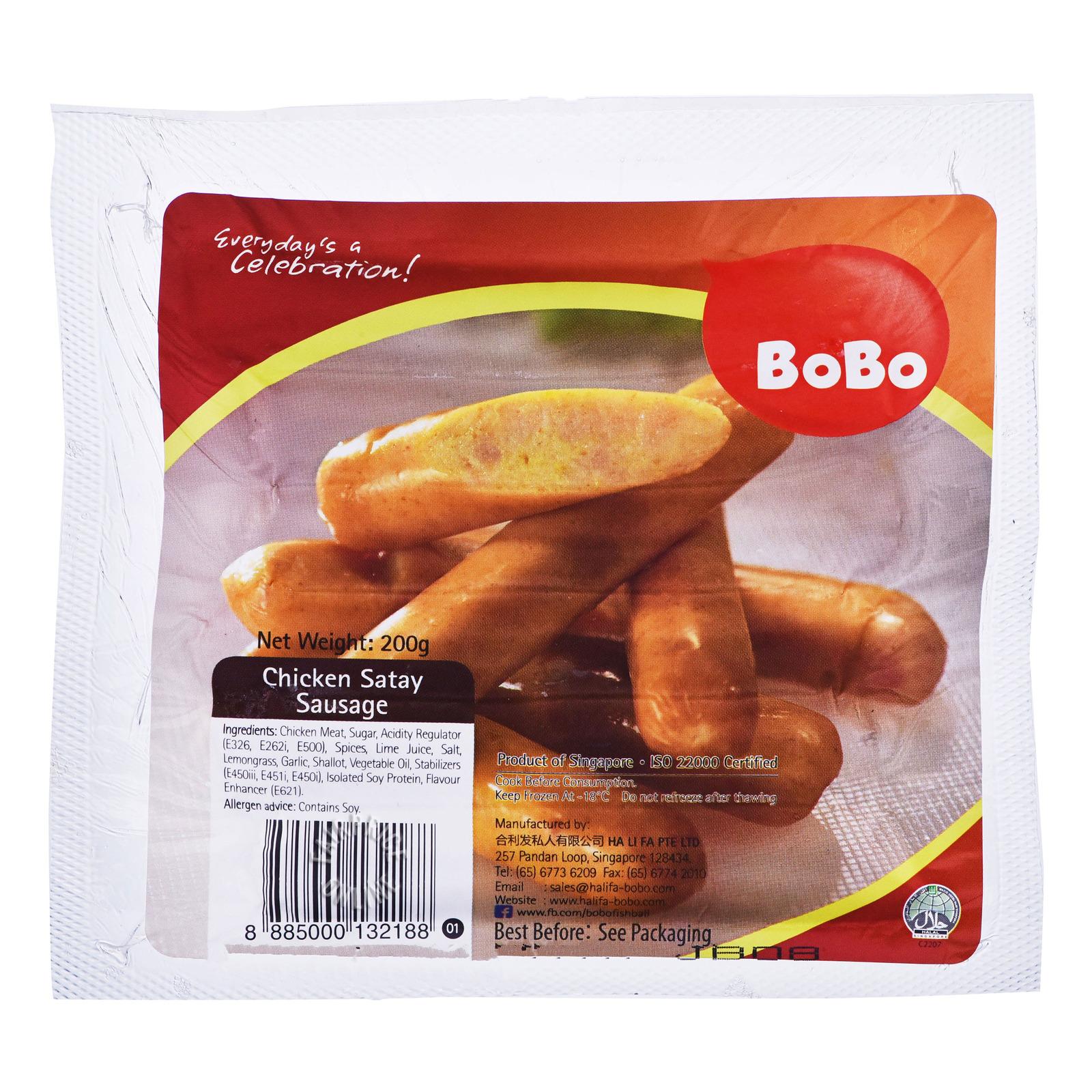 BoBo Frozen Chicken Sausage - Satay