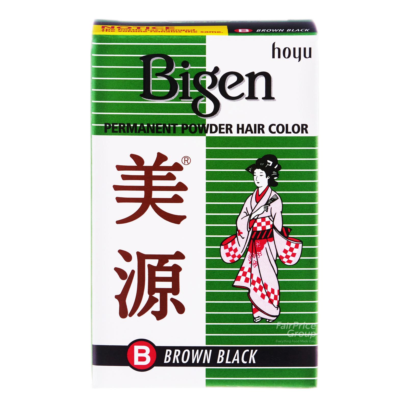 Bigen Permanent Powder Hair Colour - B Brown Black