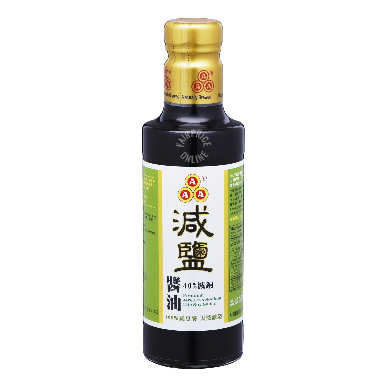 AAA Premium Soy Sauce - 40% Less Sodium Lite