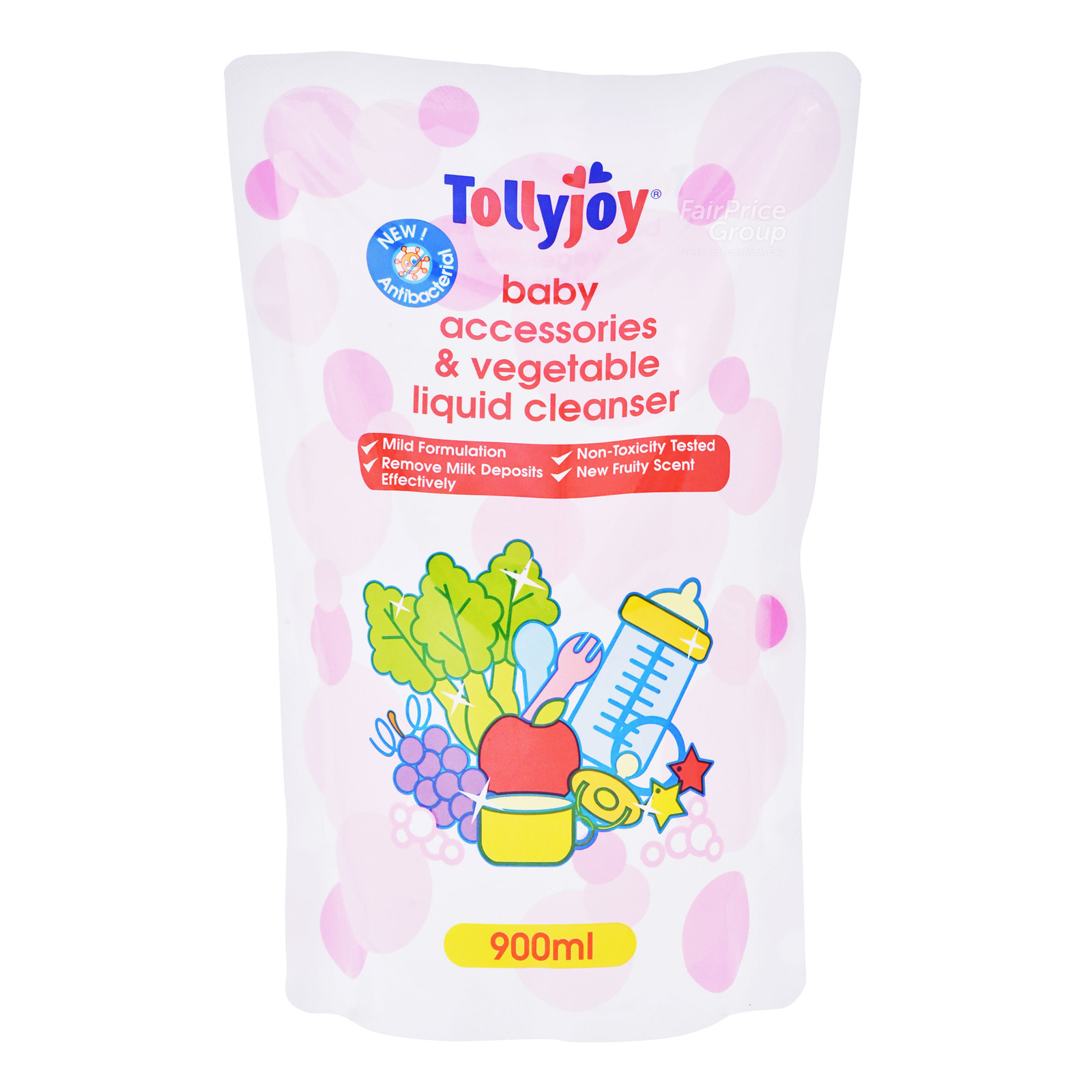 TOLLYJOY Baby Accessories & Veg Liquid Cleanser Refill - Fruity 900ml