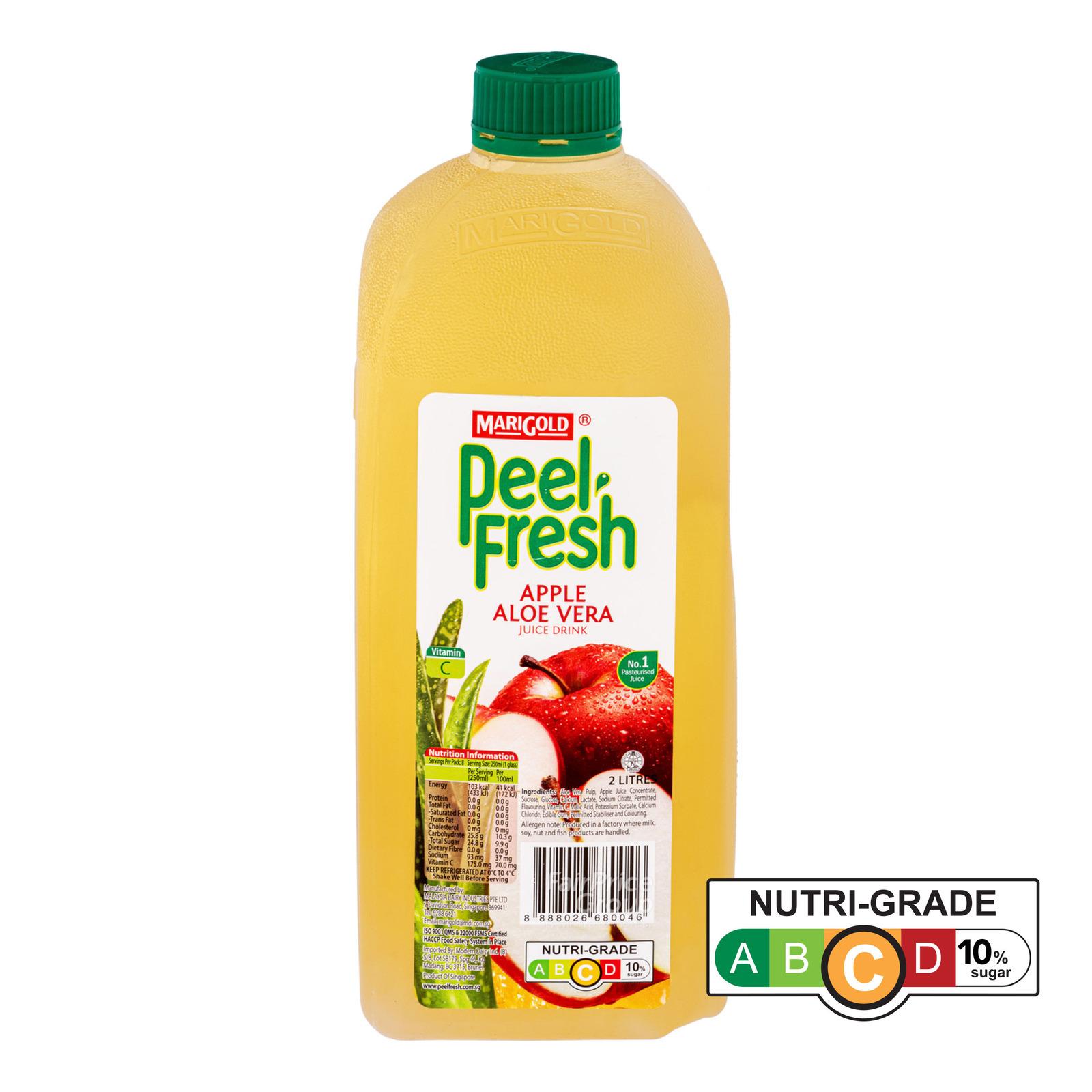 Marigold Peel Fresh Bottle Juice - Apple & Aloe Vera