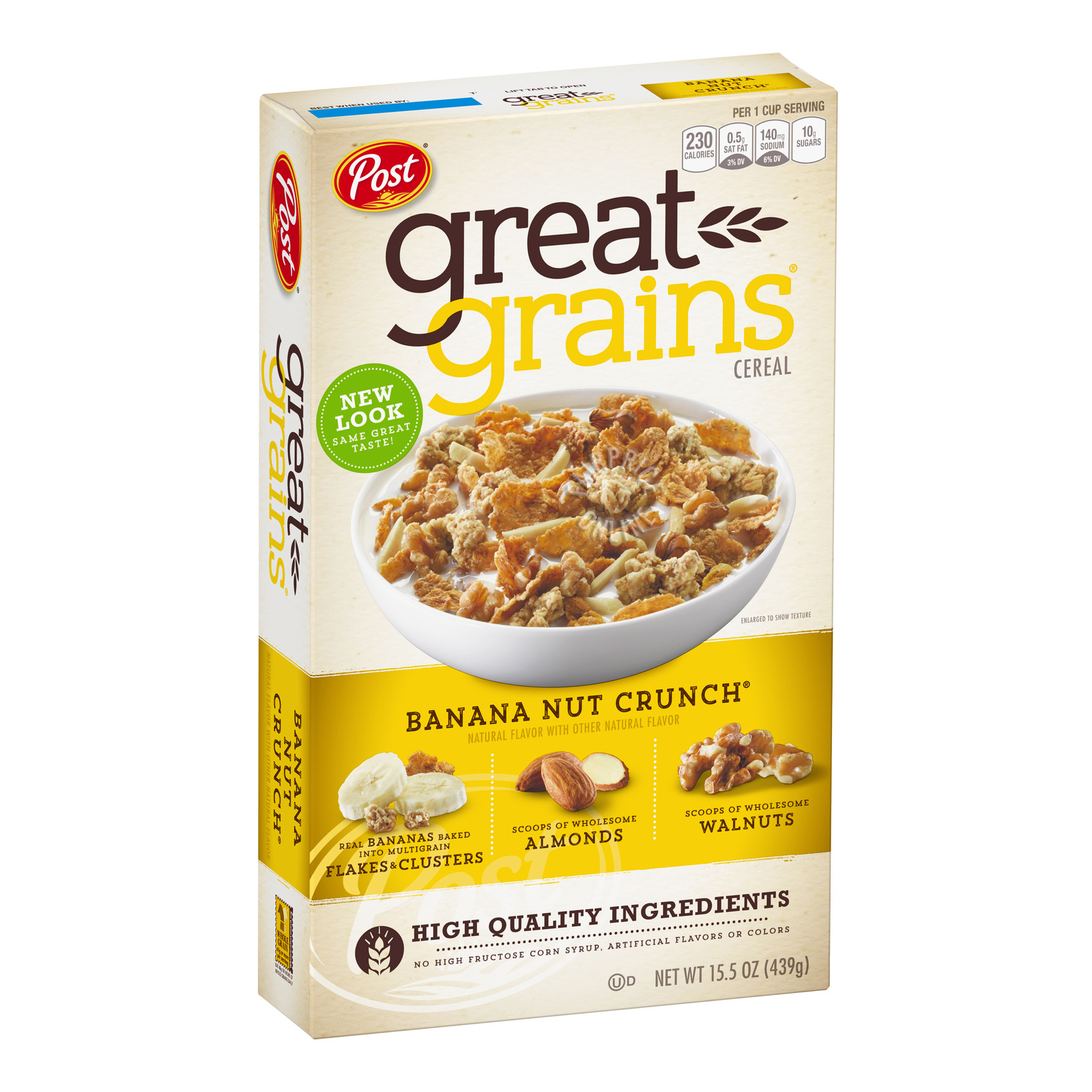 Post Selects Great Grains Banana Nut Crunch Whole Grain Cereal