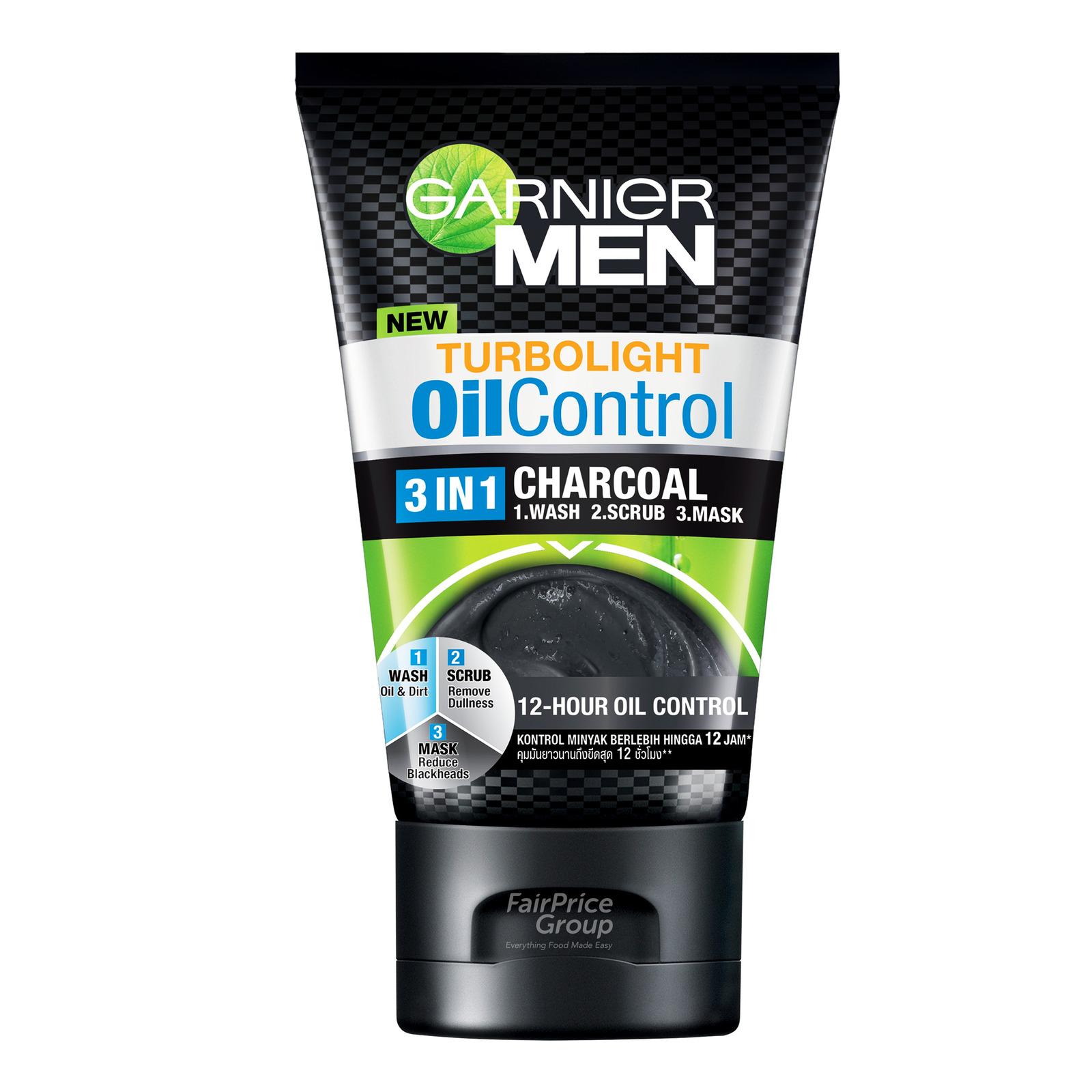 Garnier Men TurboLight Oil Control Anti-Shine Brightening Cooling Foam, 100ml