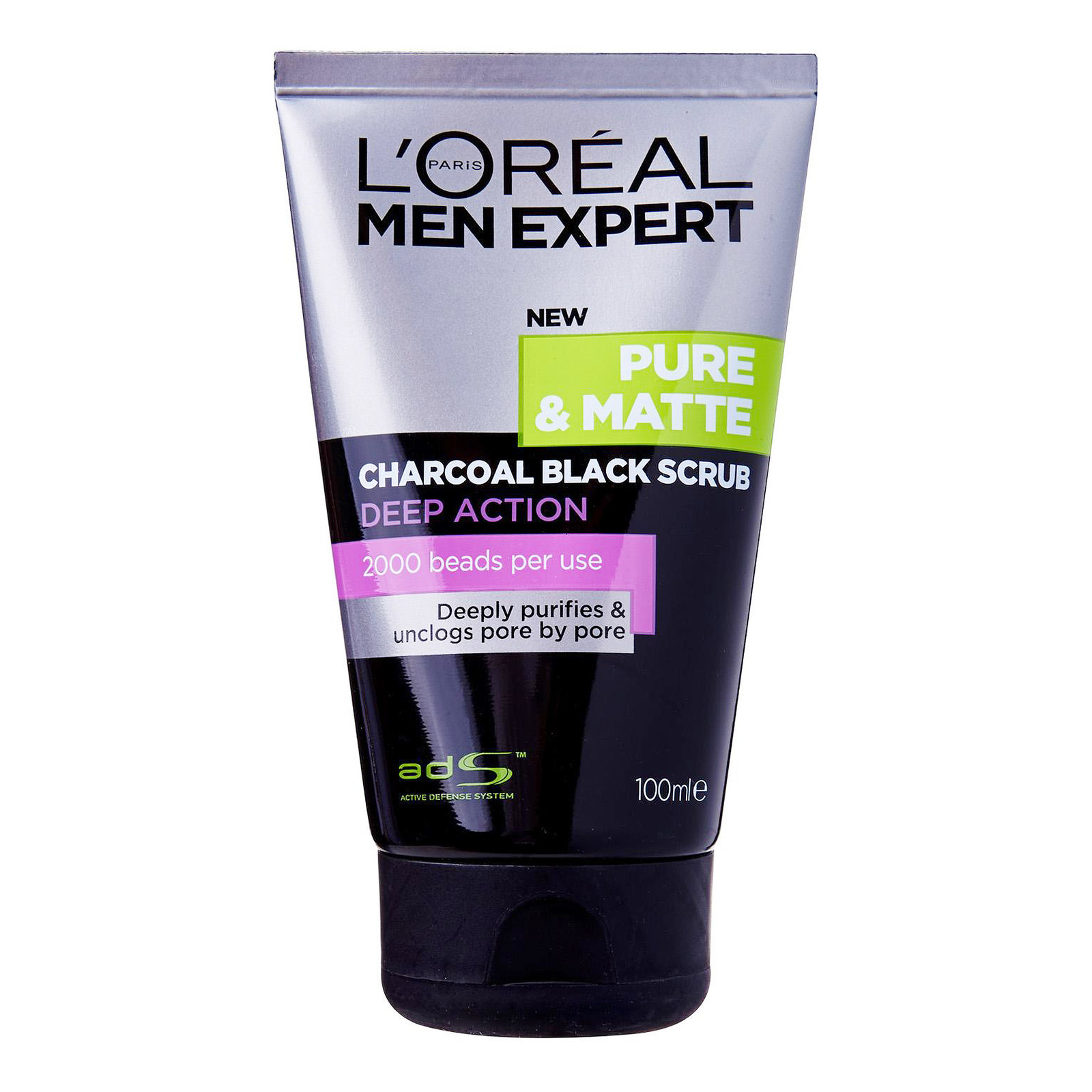 L'Oreal Paris Men Expert Facial Scrub - Charcoal Black
