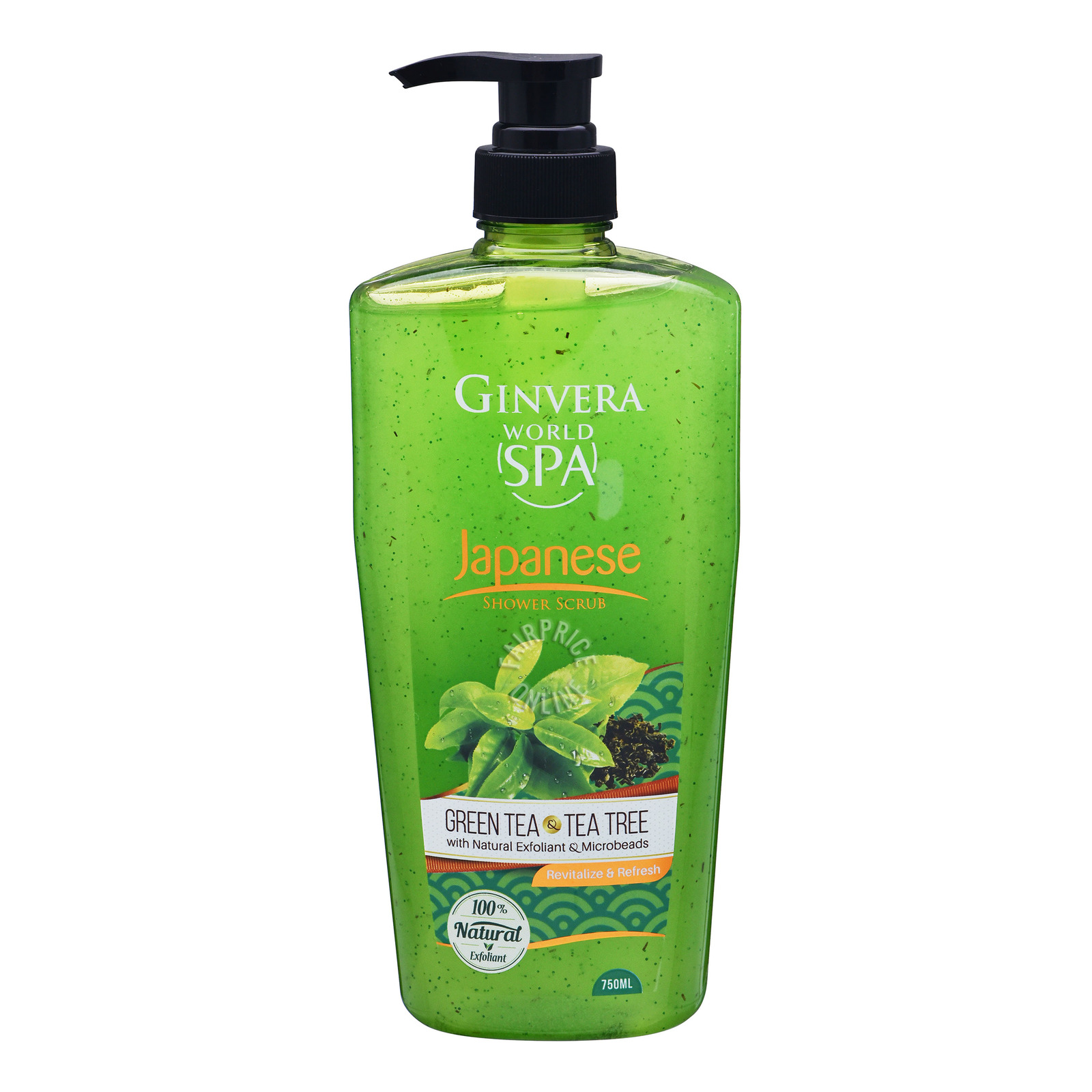 Ginvera World Spa Shower Scrub - Japanese (Green Tea & TeaTree)