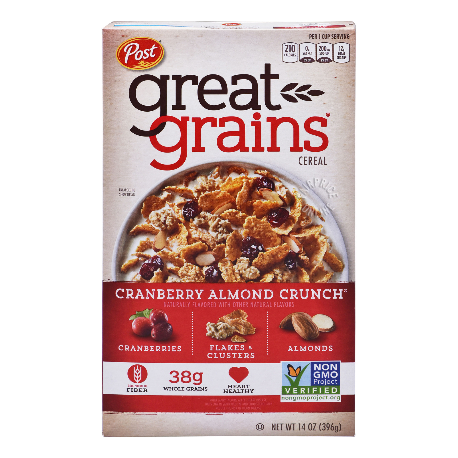 POST Great Grains Cereal - Cranberry Almond Crunch 396g