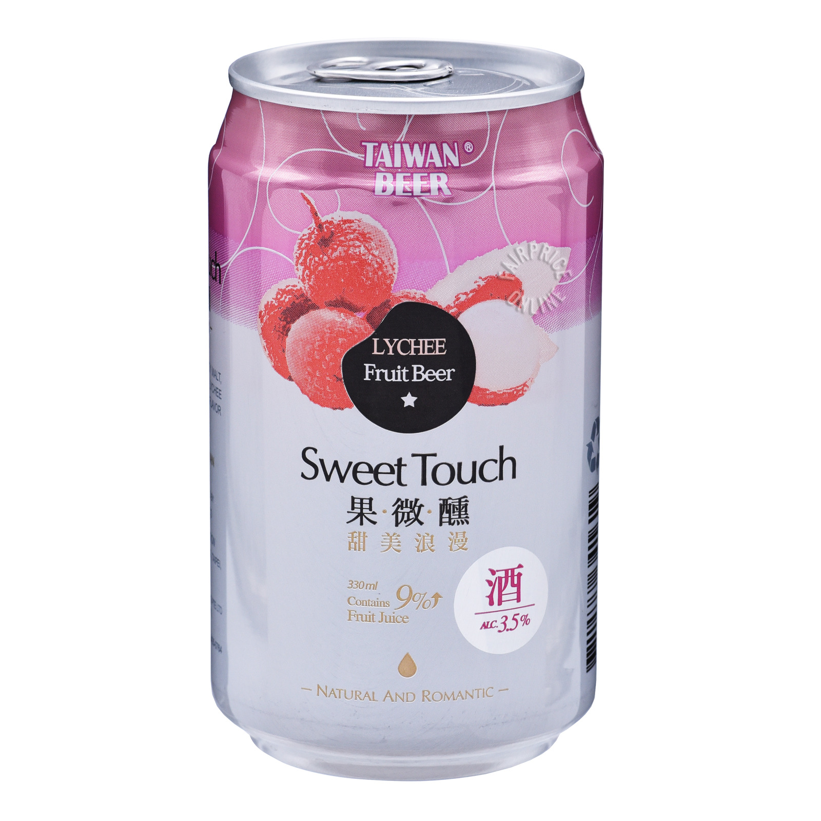 Taiwan Sweet Touch Fruit Can Beer - Lychee