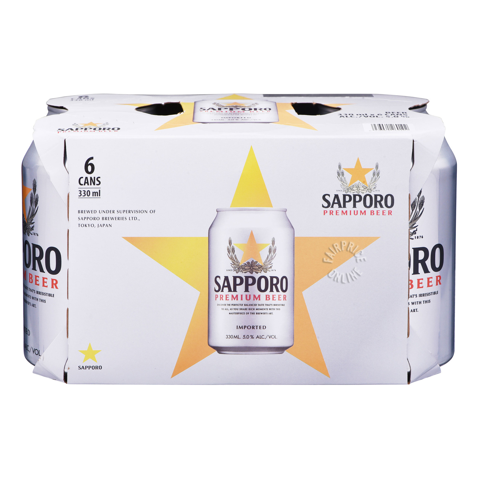 SAPPORO Beer Can 6sX330ml