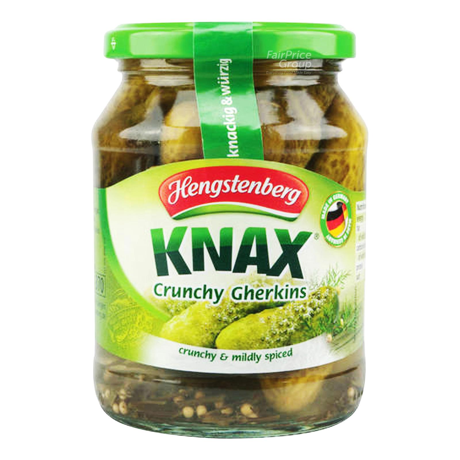 Hengstenberg Knax Crunchy Gherkins - Mildly Spiced