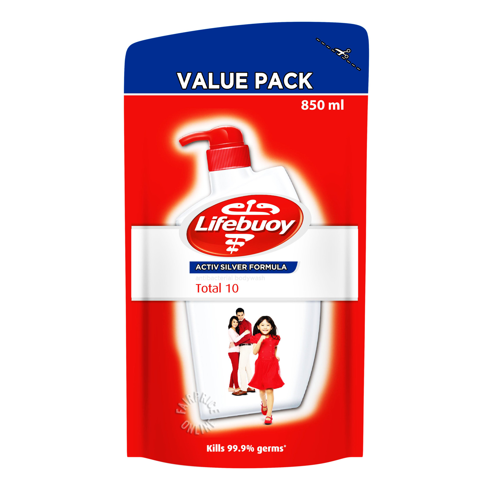Lifebuoy Total 10 Anti-bacterial Body Wash Refill Pack