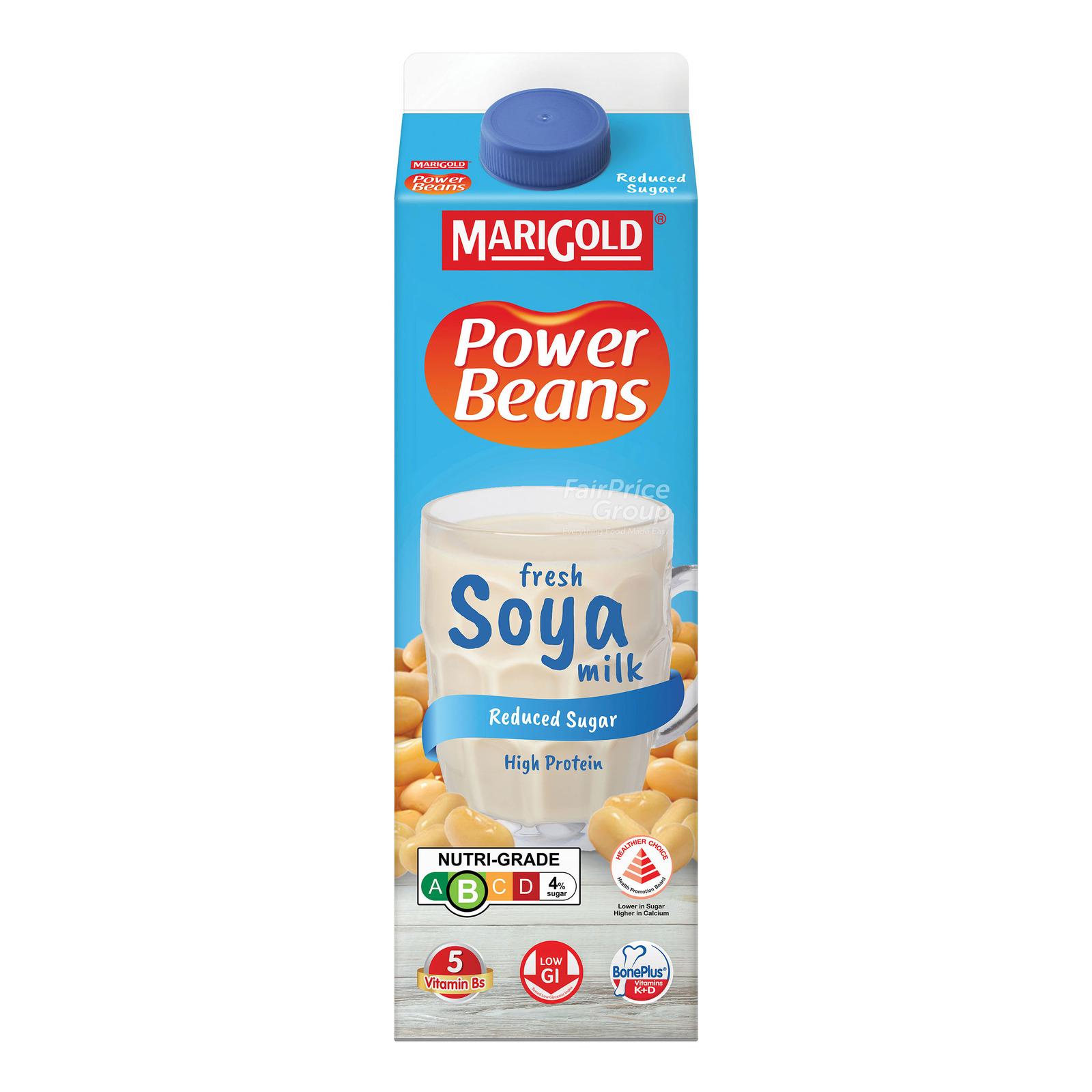 MARIGOLD PowerBeans Fresh Soya Milk - Reduced Sugar 1L