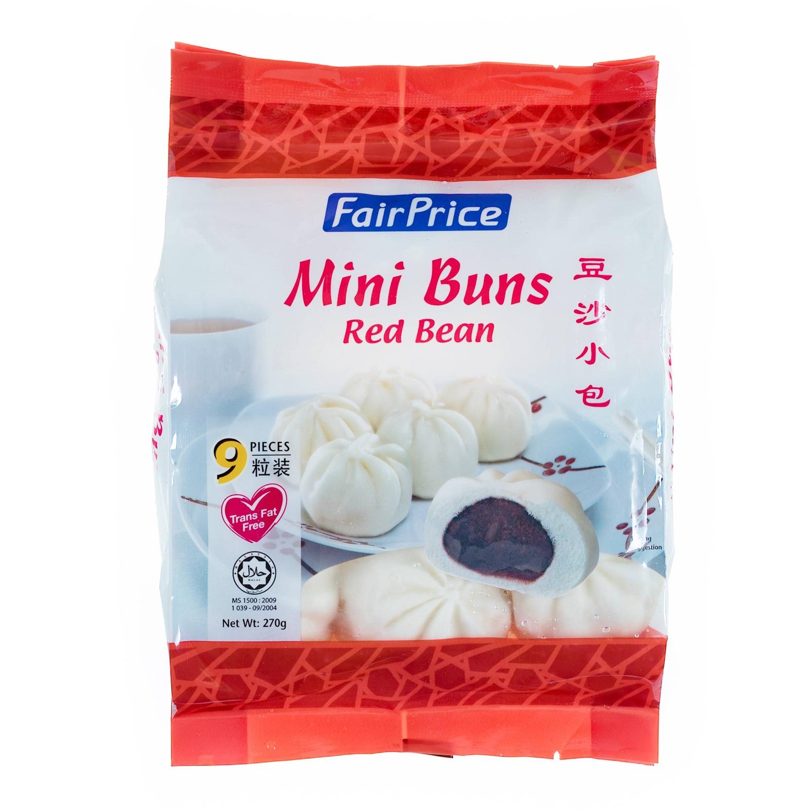 FairPrice Frozen Mini Buns - Red Bean