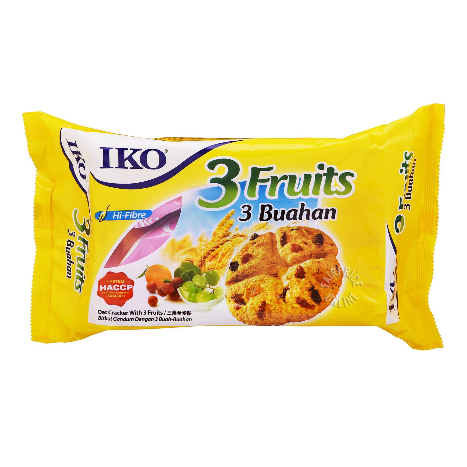IKO Oat Crackers - 3 Fruits