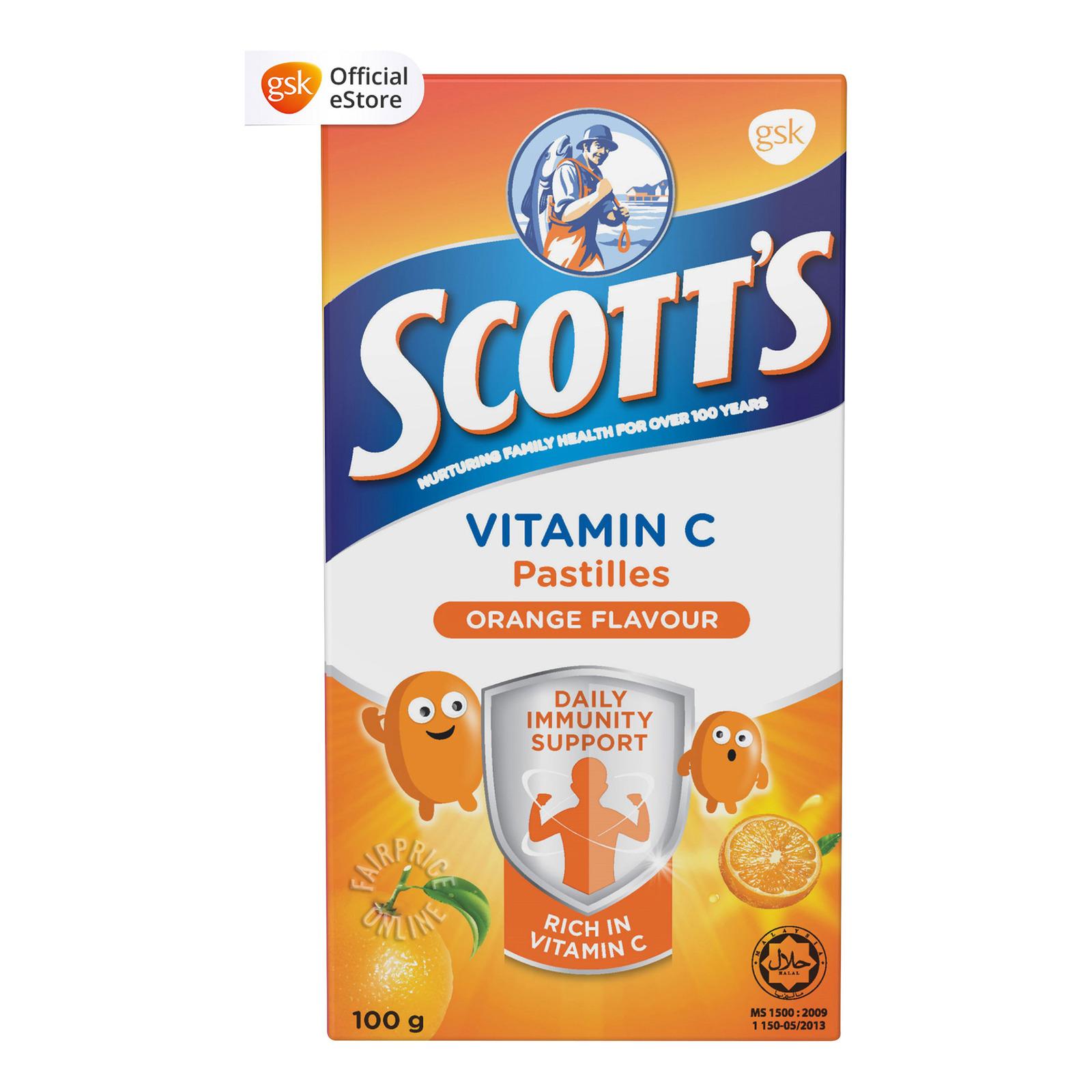 Scott's Vitamin C Pastilles - Orange