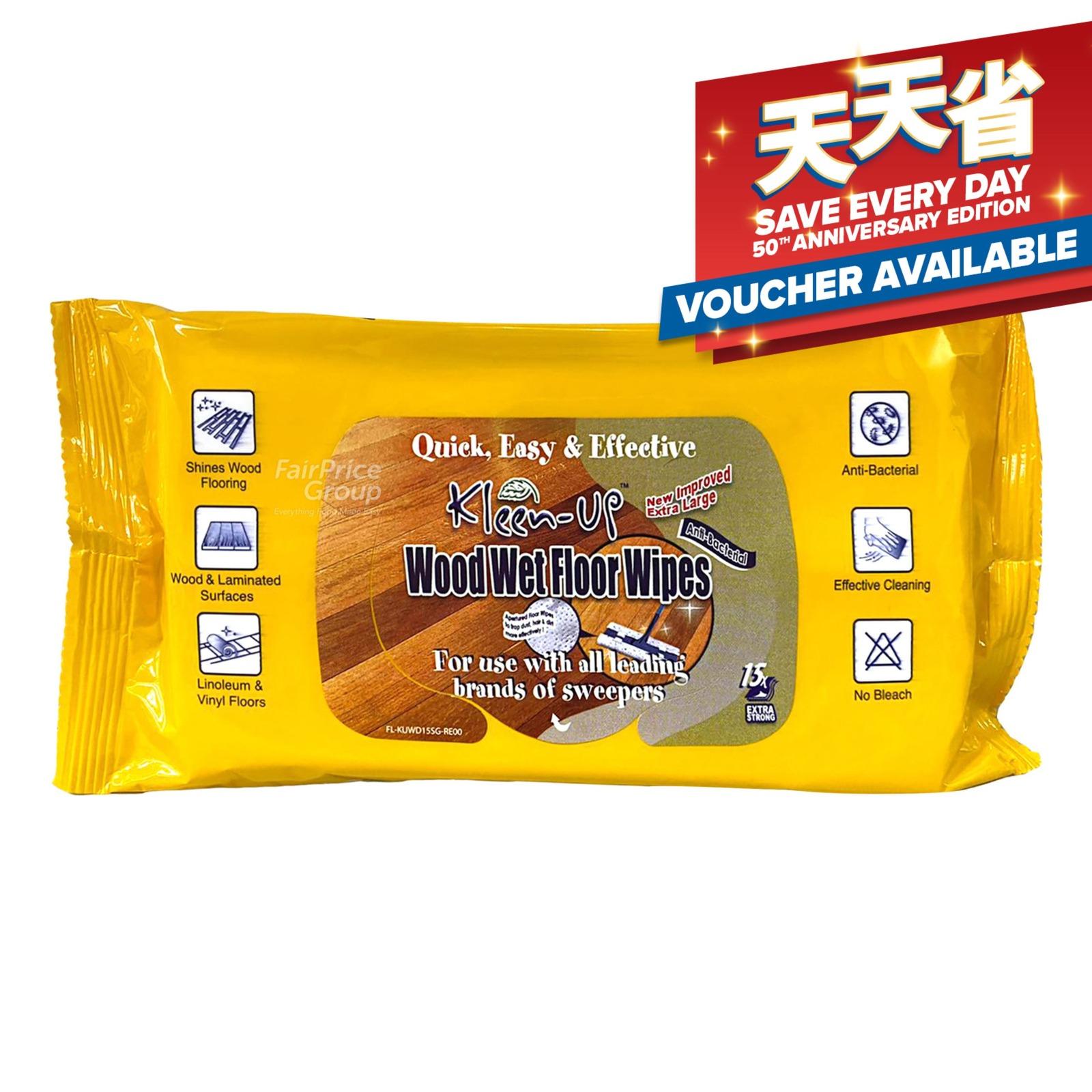 Kleen-Up Wipes - Wet Floor (Wood)