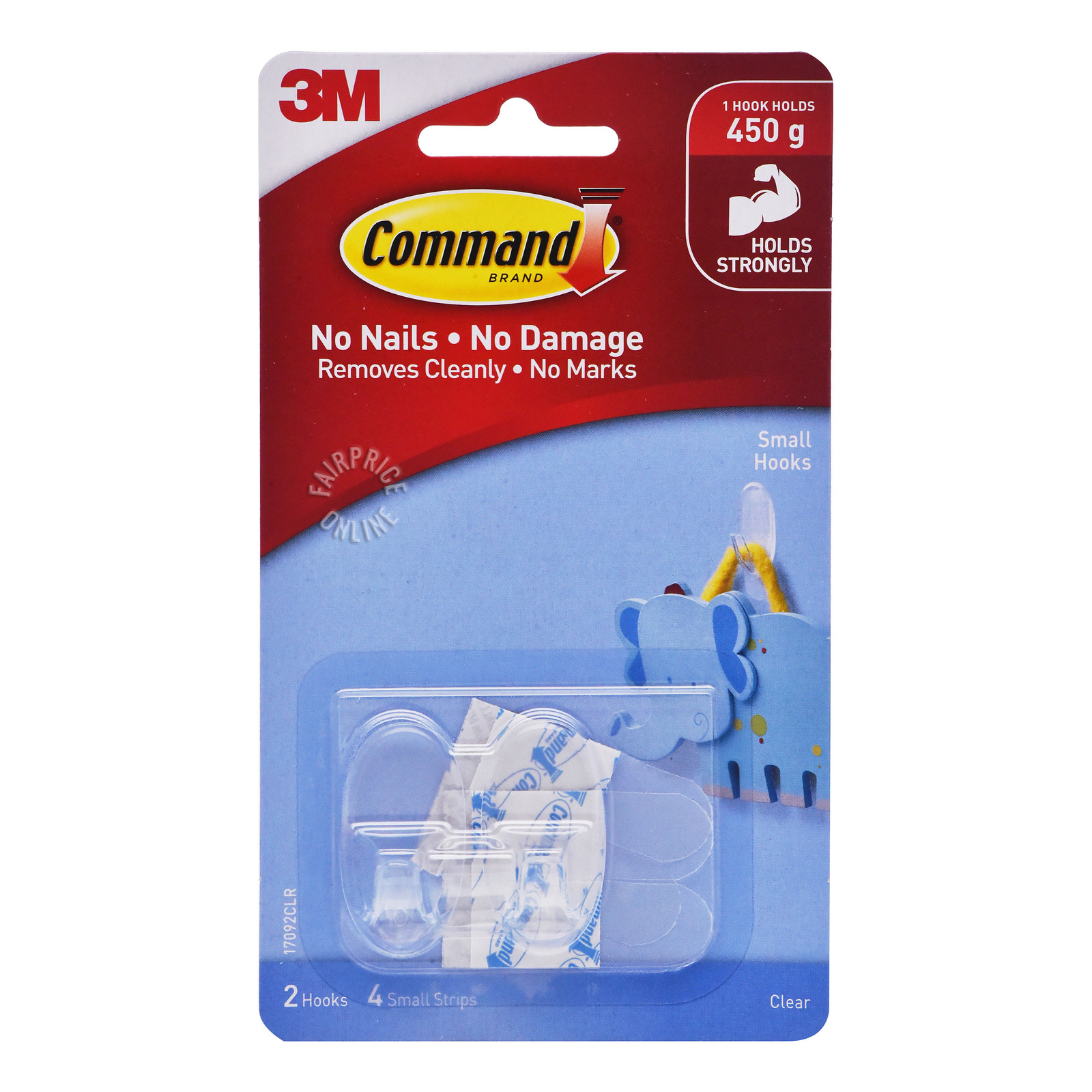 3M Command Clear Hooks - Small