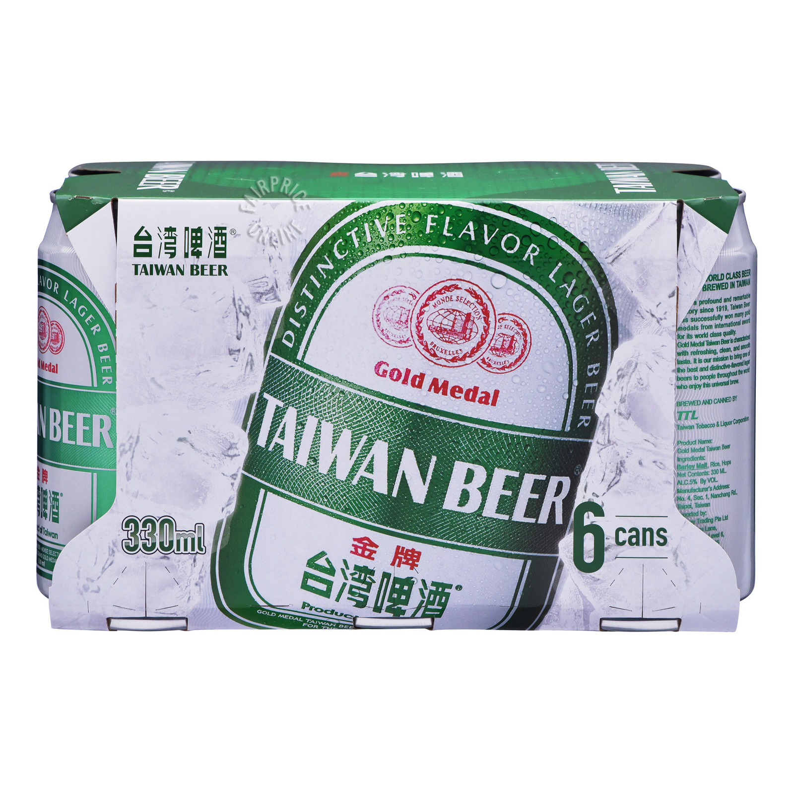 GOLD MEDAL Taiwan Beer 6sX330ml