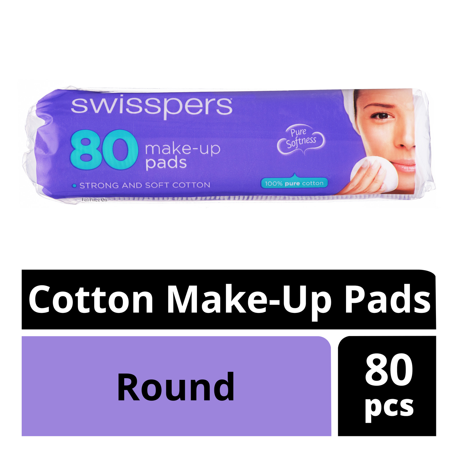 Swisspers Cotton Make-Up Pads - Round