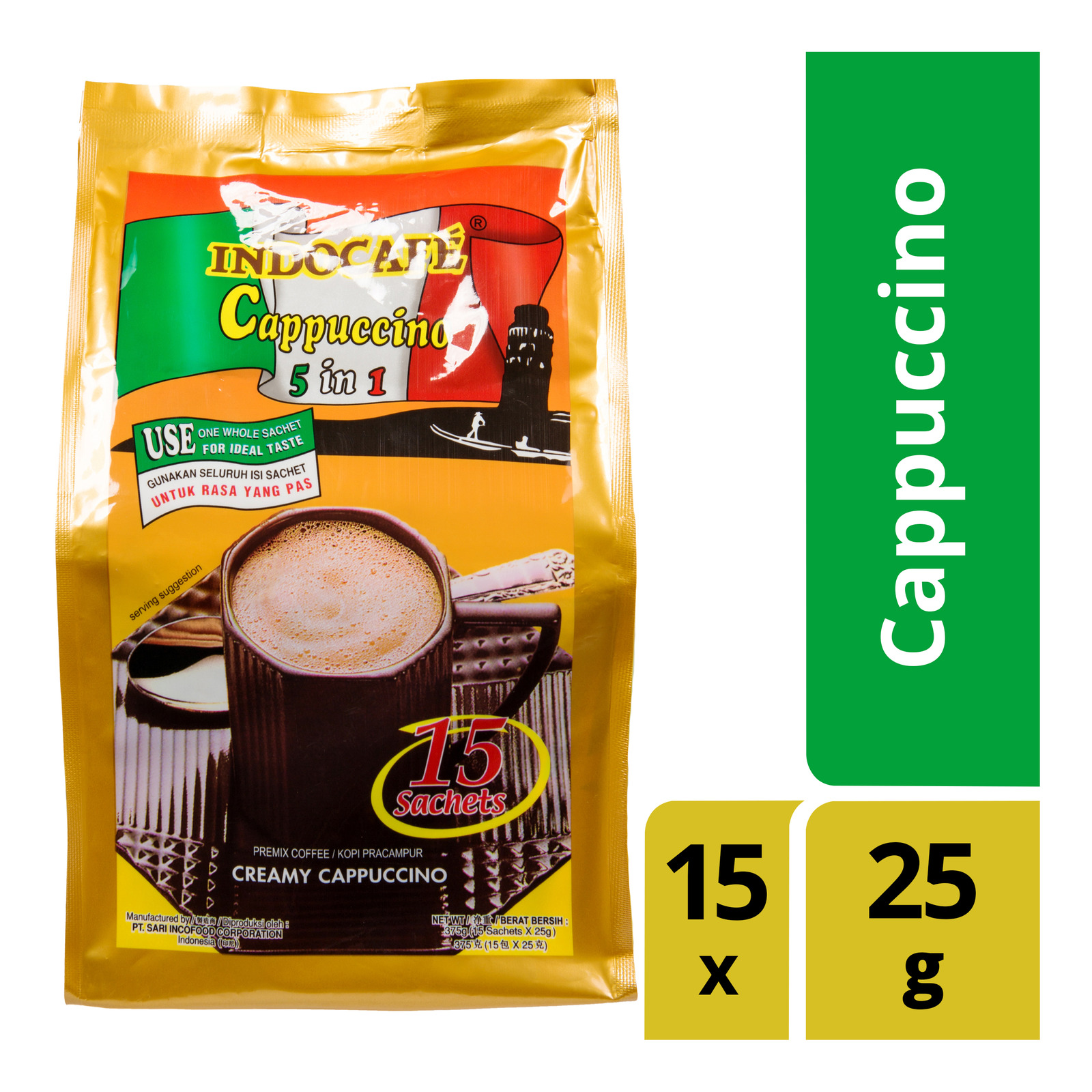 Indocafe 5 in 1 Instant Coffee - Cappuccino